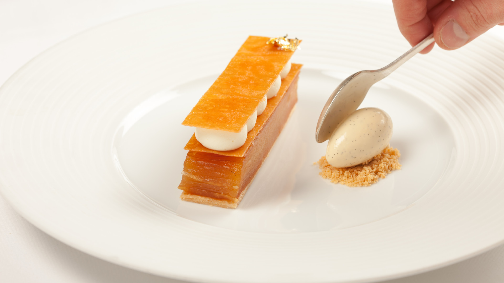 Apple millefeuille from the Ritz Restaurant, winner of the Food Service Award
