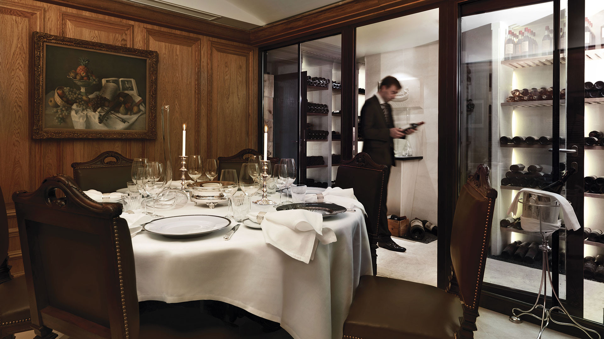 The Sommelier's Table at Hélène Darroze at The Connaught, a 5 Rosette winner