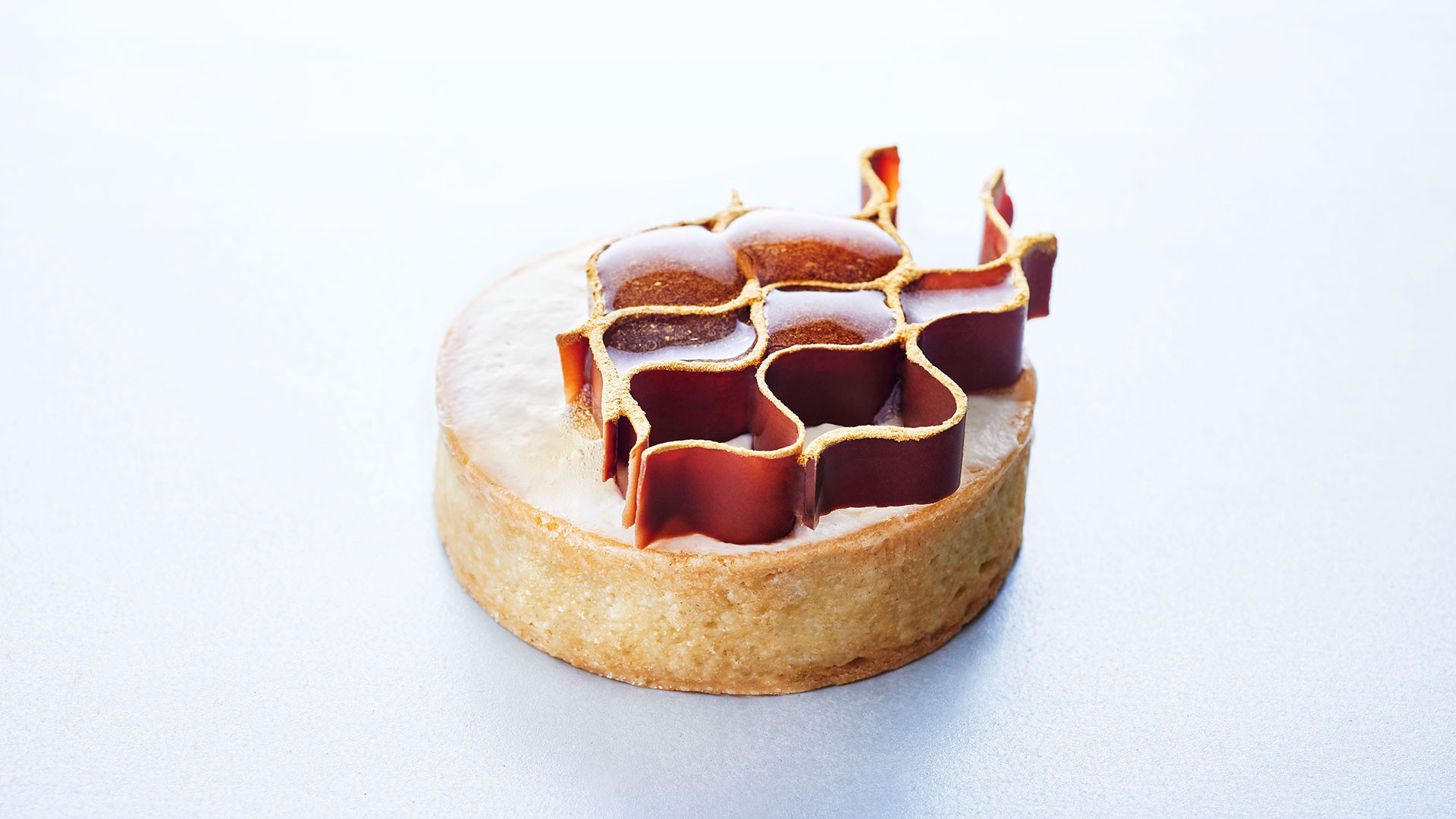 Salted honey tart