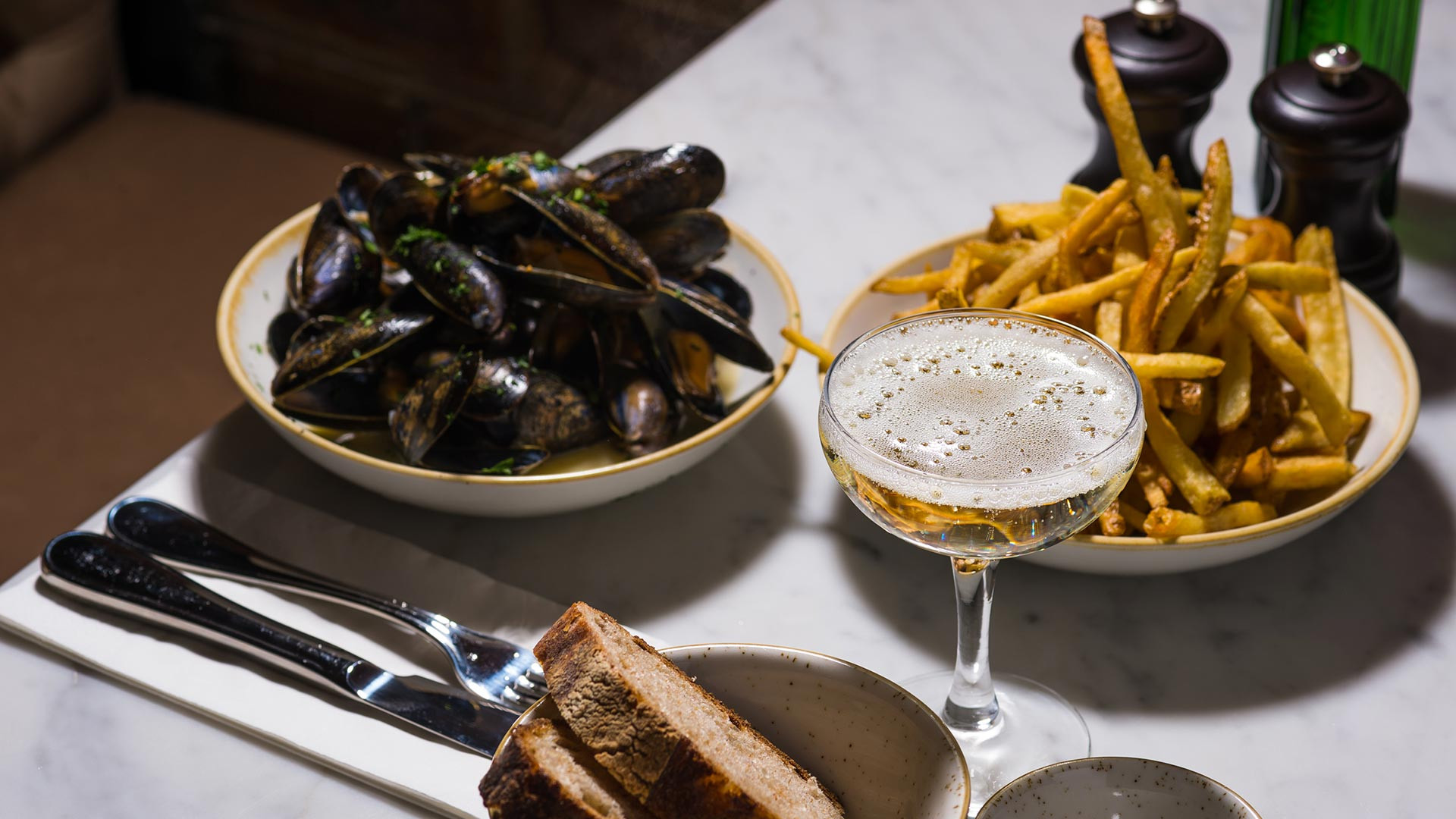 Petit Pois focuses on traditional French food in an intimate environment