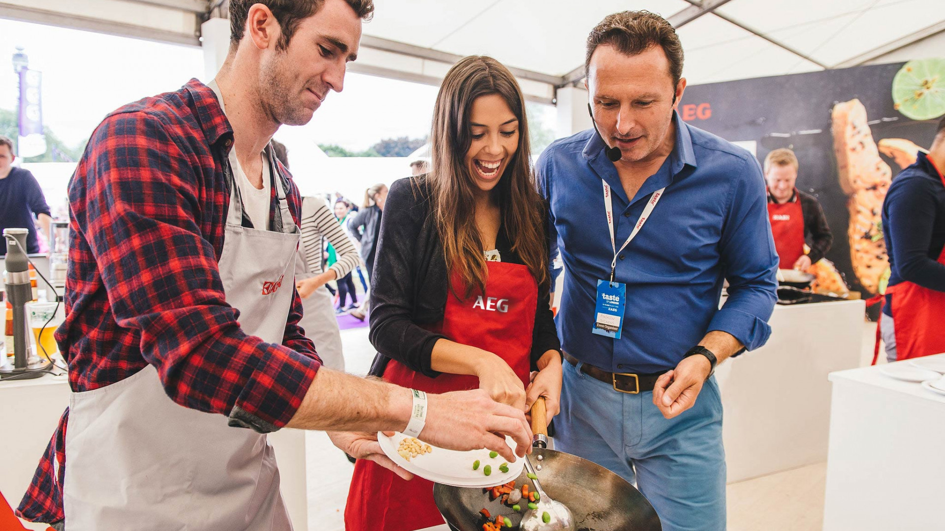 Taste of London's AEG Take Taste Further tent
