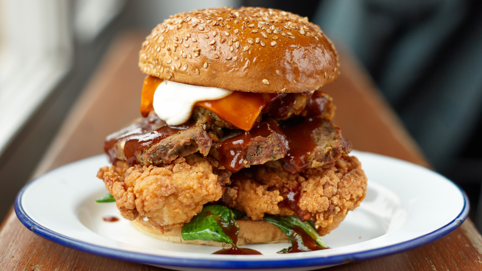 Ben's Canteen's Thanksgiving burger