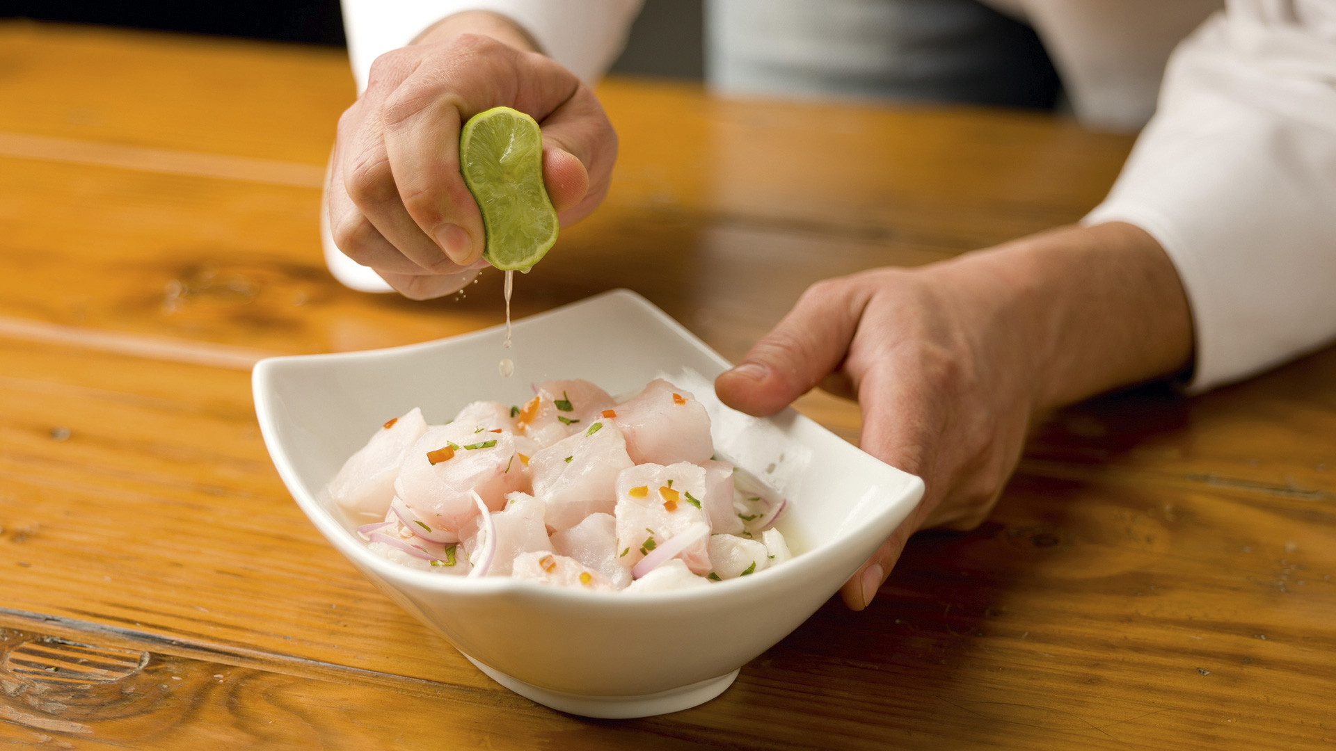 Ceviche, one of Peru's most famous dishes