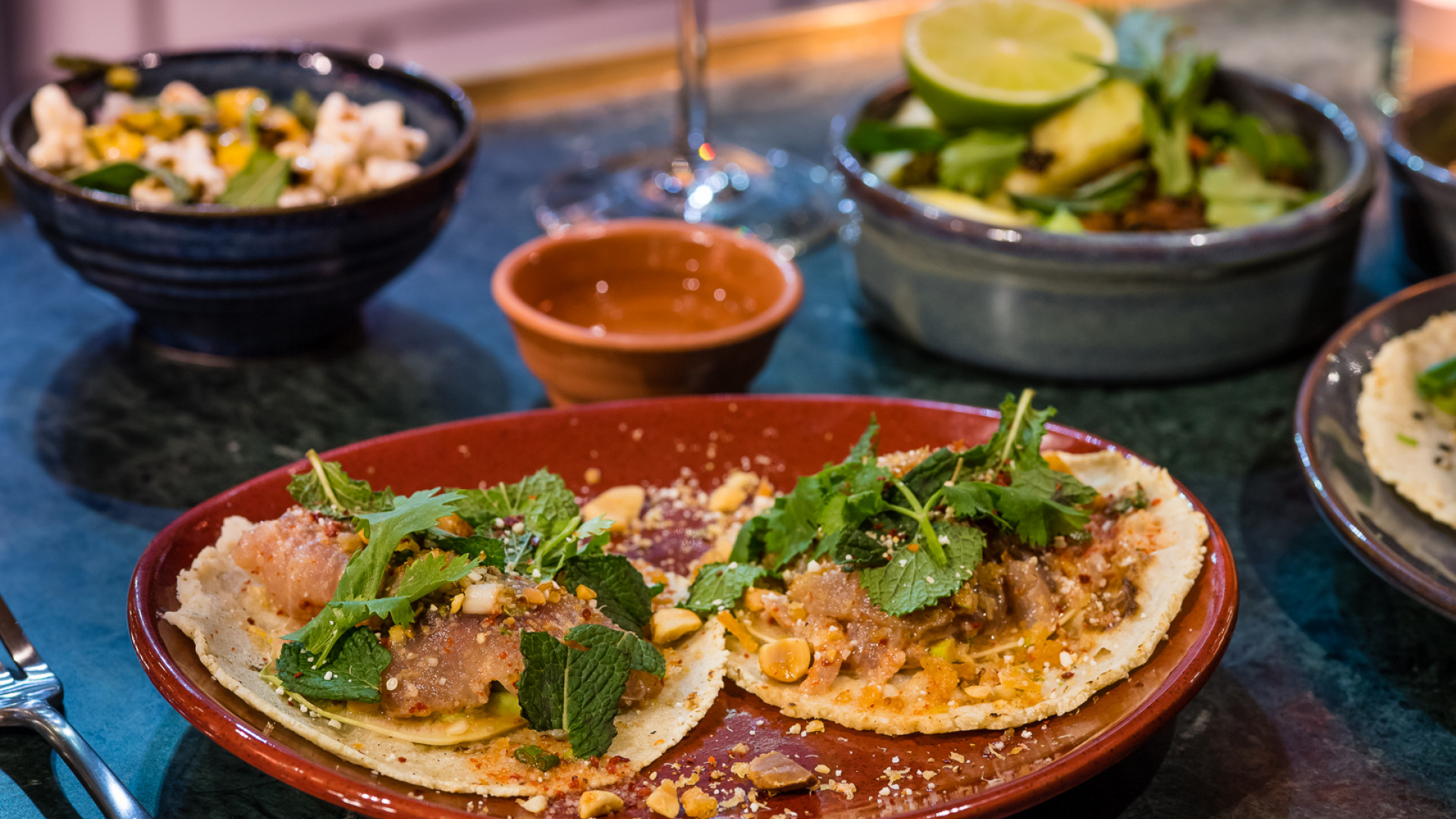 Tacos at Temper, Neil Rankin's new restaurant