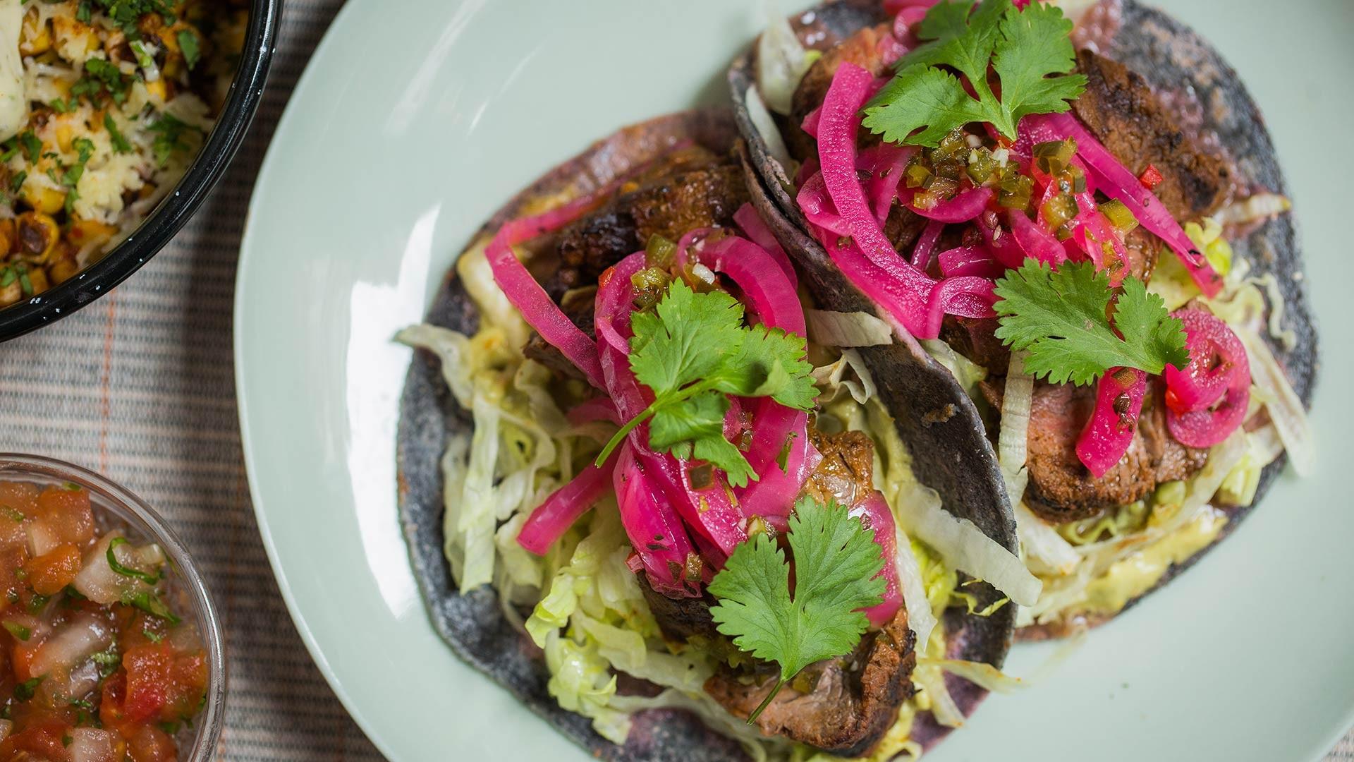 The carne asado taco