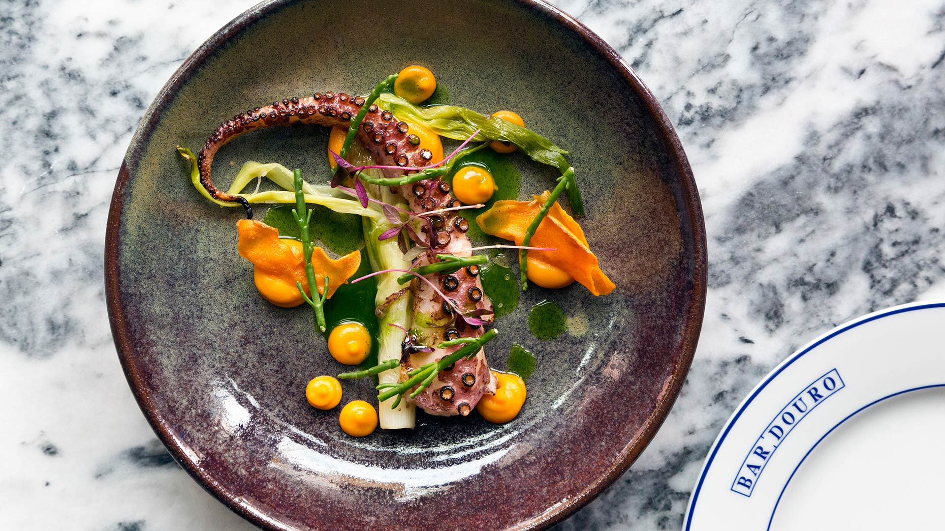 Octopus with sweet potato