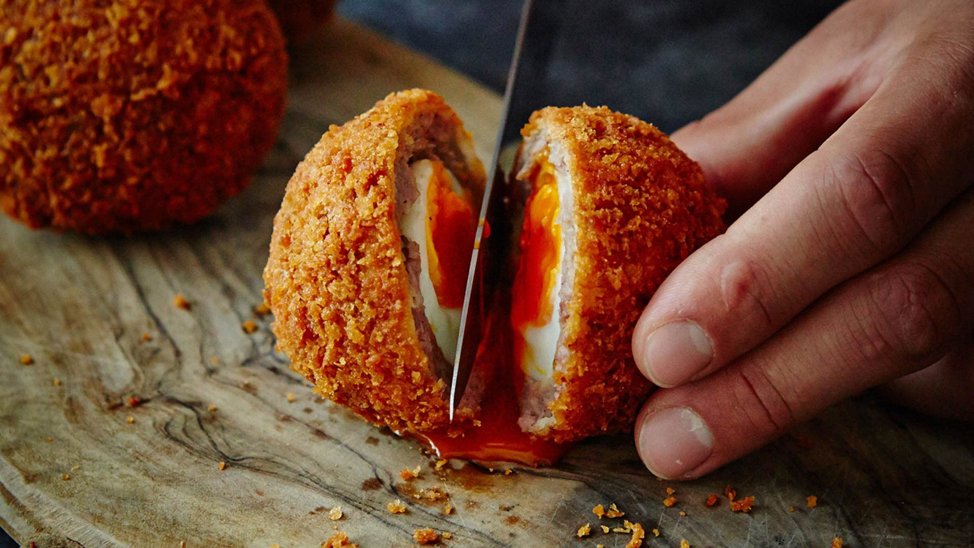 Old-school scotch eggs: Fortnum & Mason