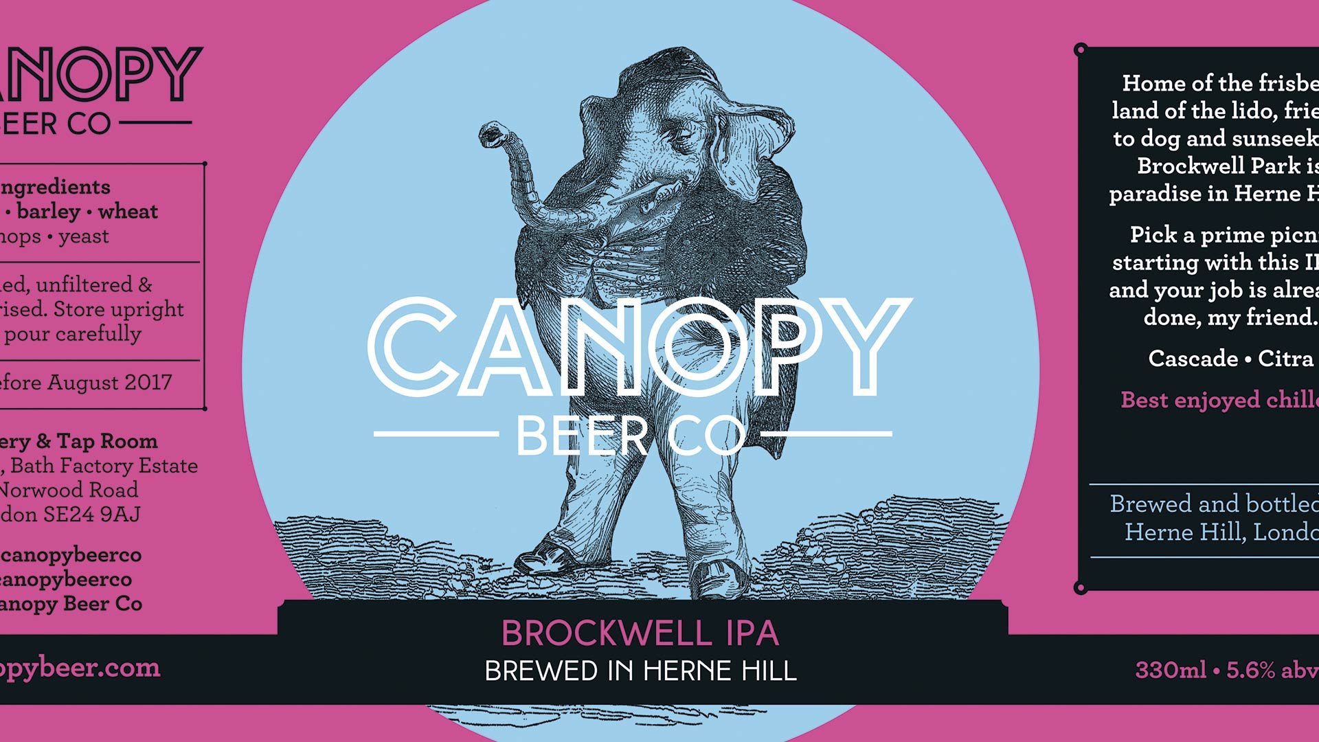 Canopy Beer Co's eye-catching label