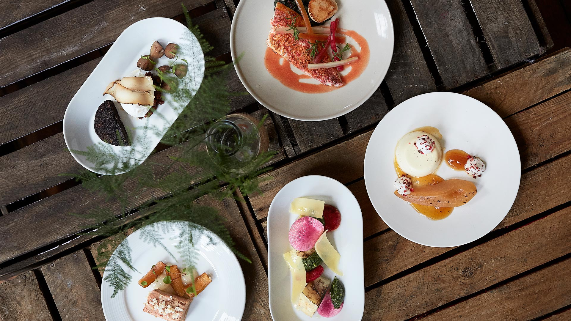 A selection of dishes at Borough Plates