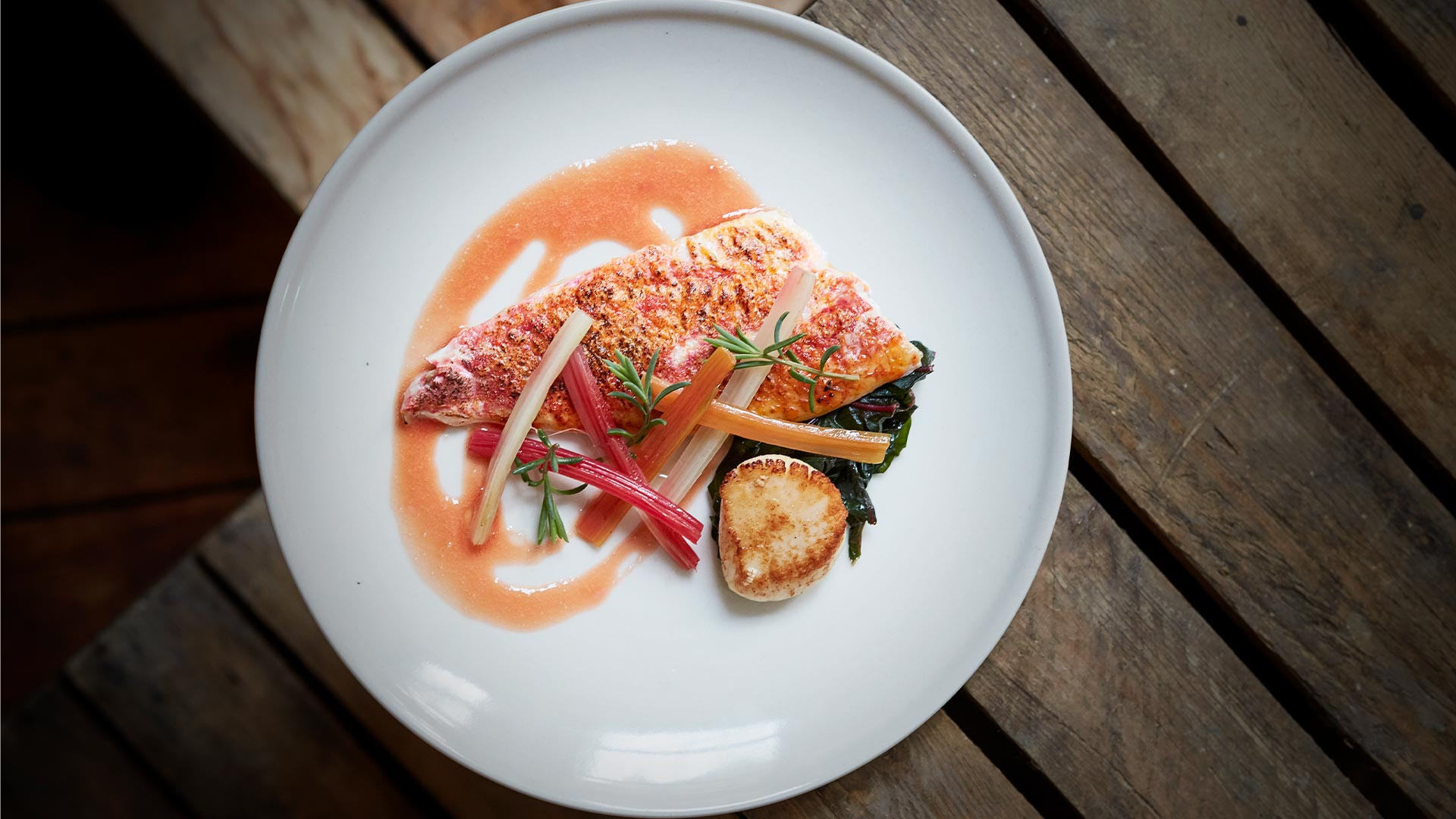 A dish created with produce from Borough Market