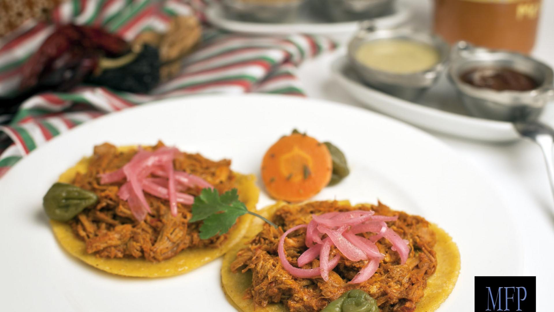 Conchitas pibil tacos at Mestizo