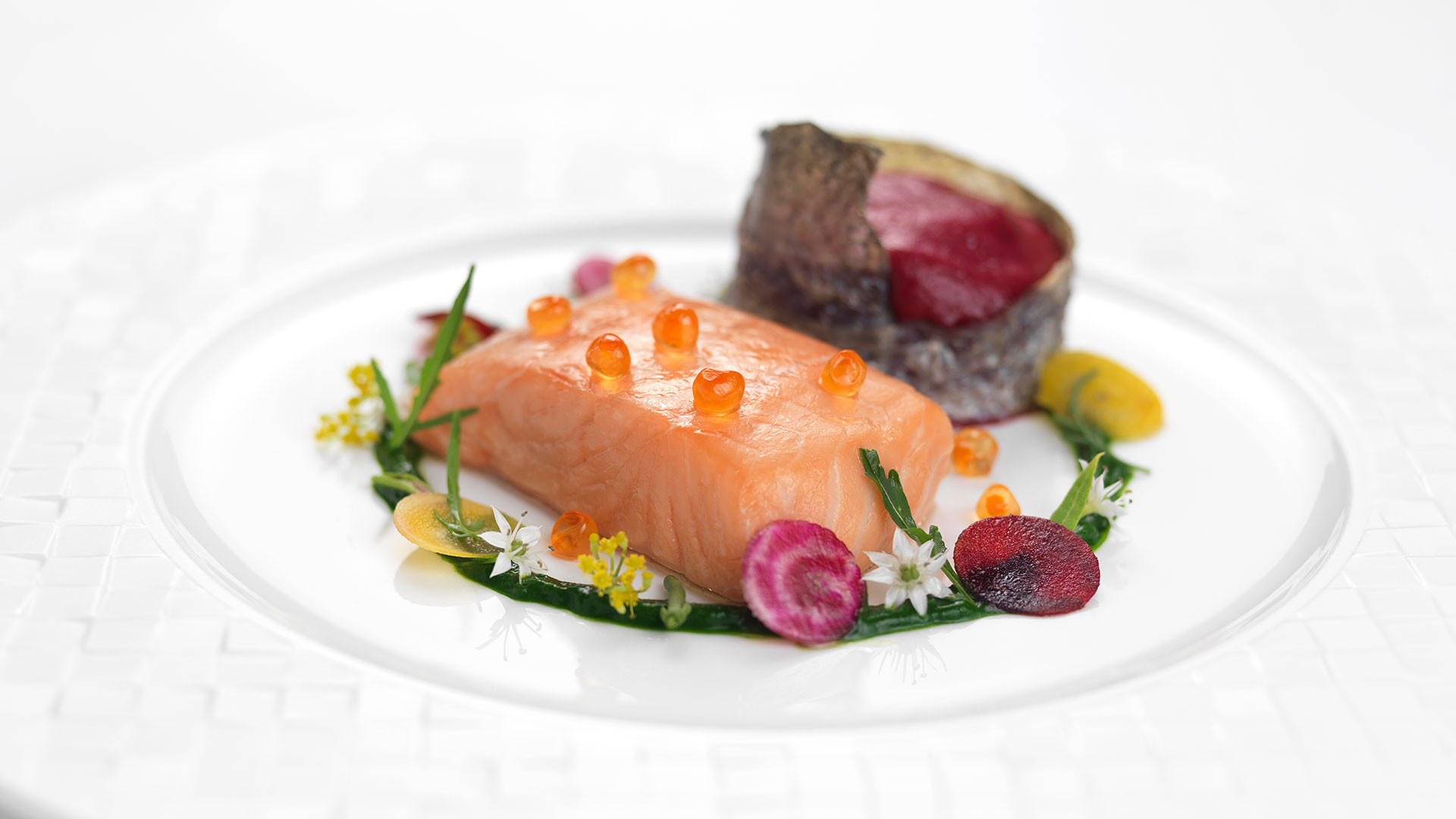 An artful plate from Le Cordon Bleu