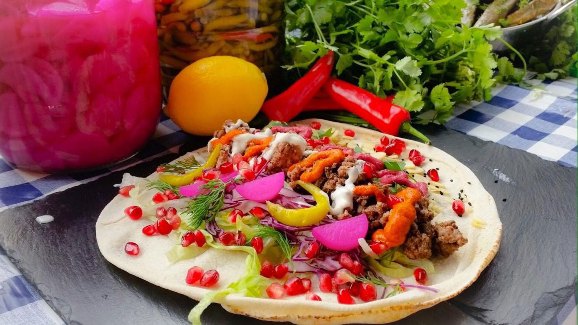 Healthy wraps from La Cocinita