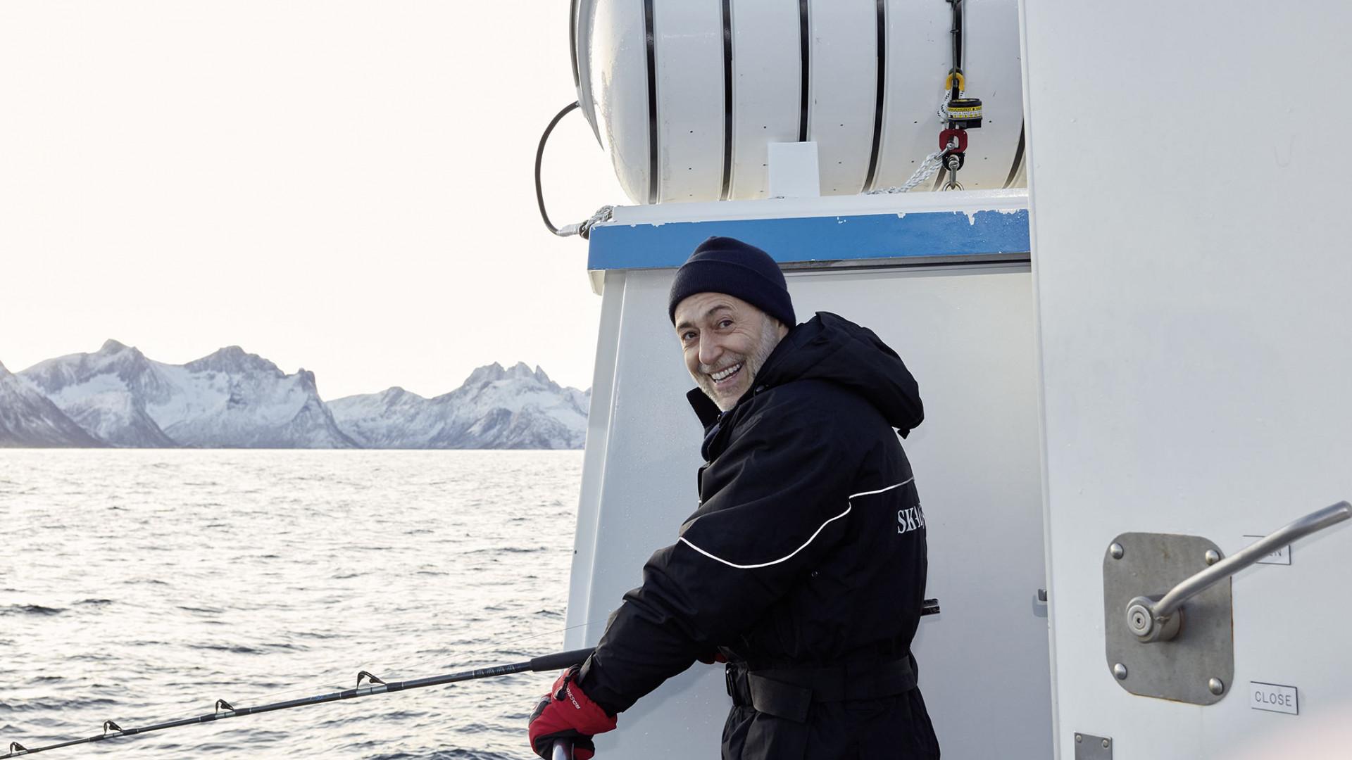 Michel Roux Jr on board the Skrei fishing boat