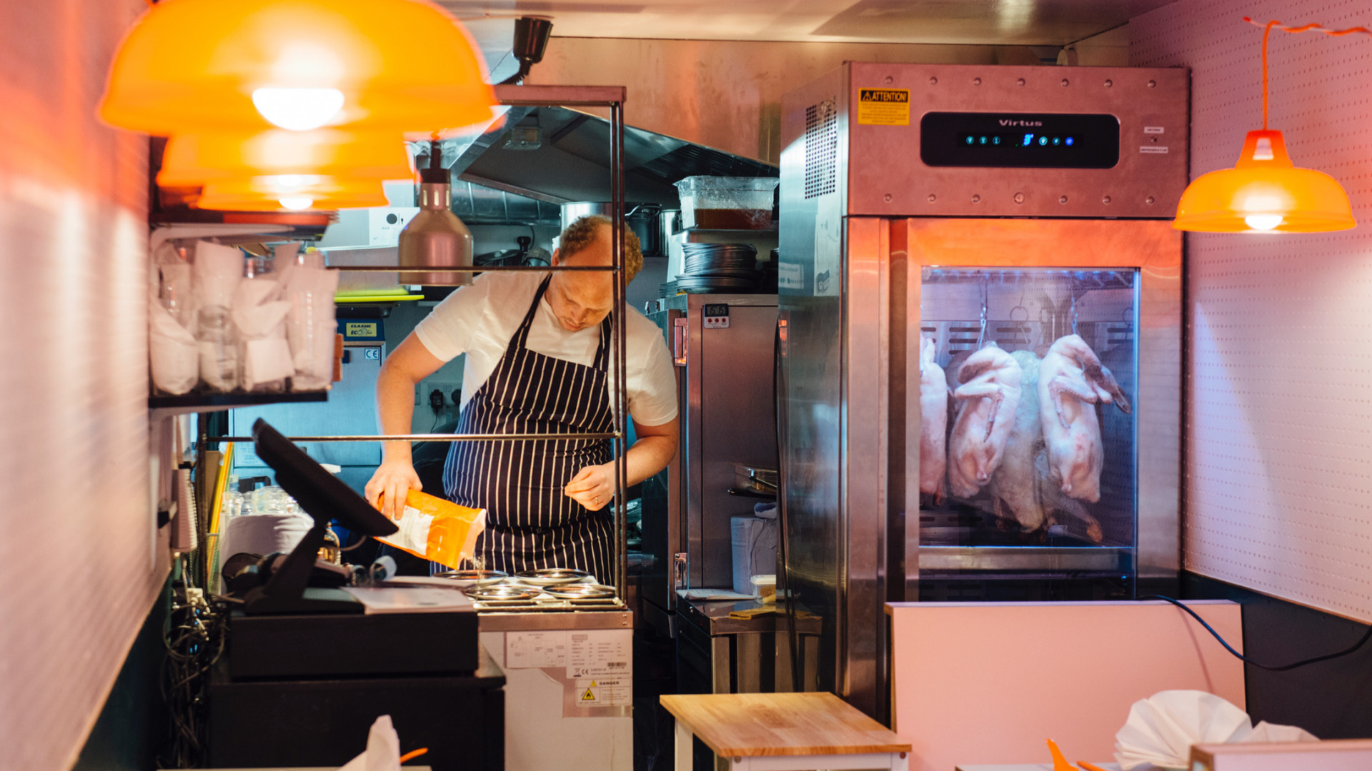 Duck Duck Goose, Brixton: chef Oli Brown and the meat dryer