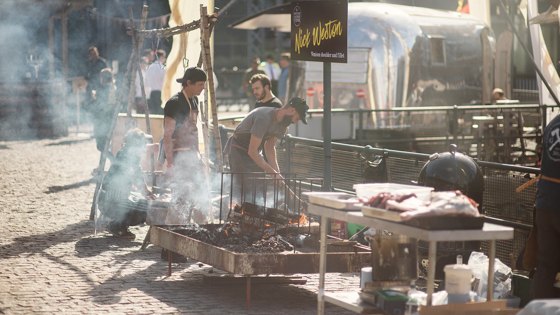 Nick Weston manned a grill at last year's Meatopia
