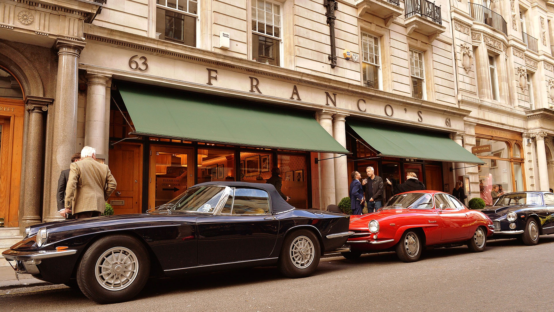 The exterior of Franco's in Jermyn Street