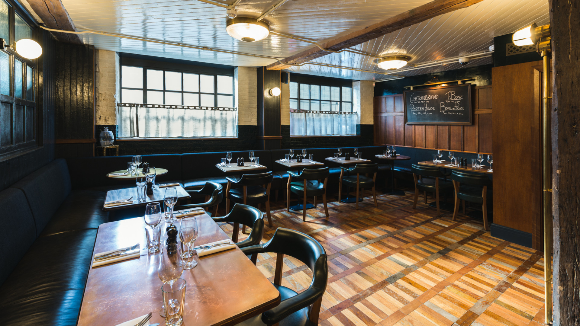 The dining room at Hawksmoor Borough