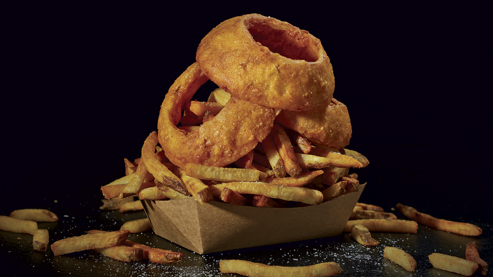 Onion rings at BurgerFi