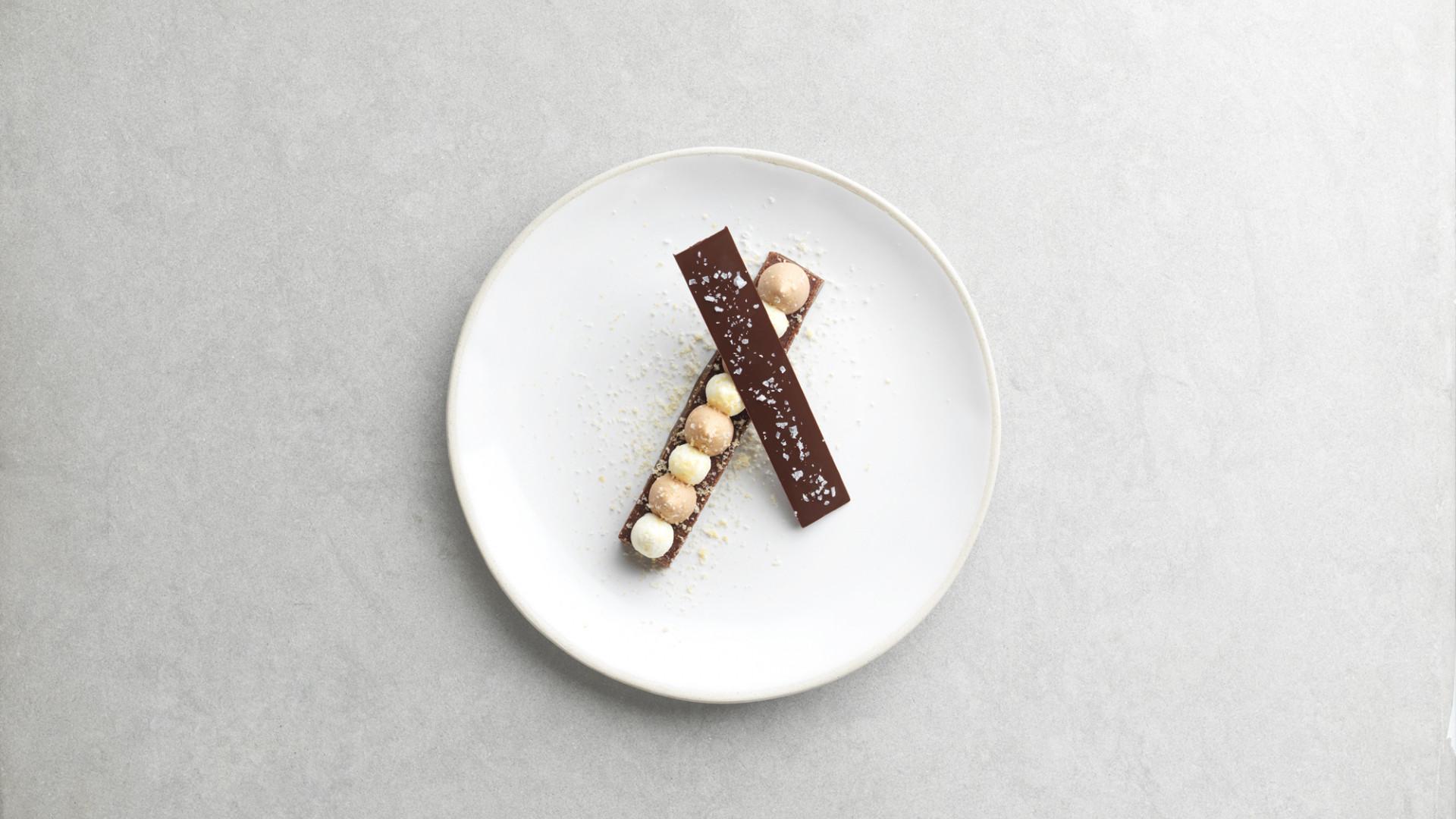 Chocolate nougatine at Marcus