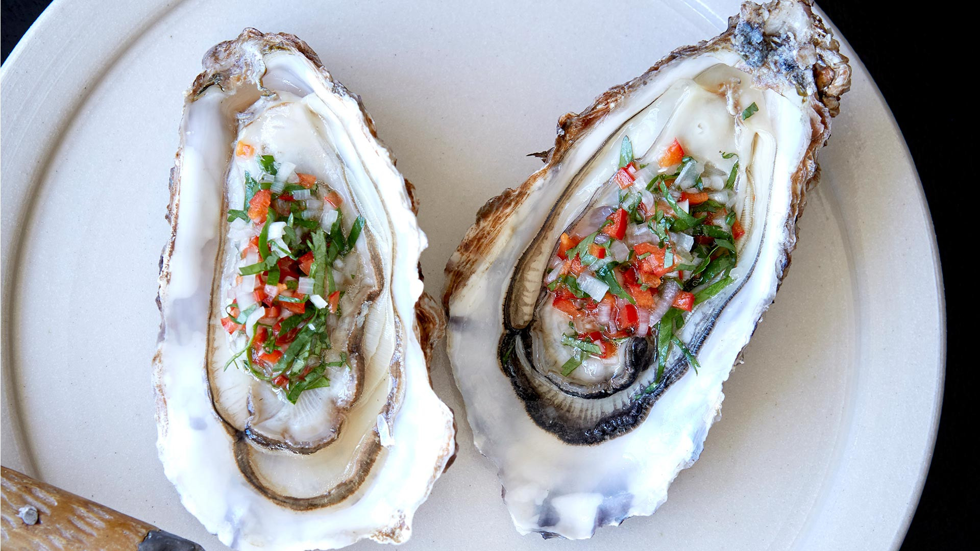 Morecambe Bay oysters with chilli vinegar at Westerns Laundry