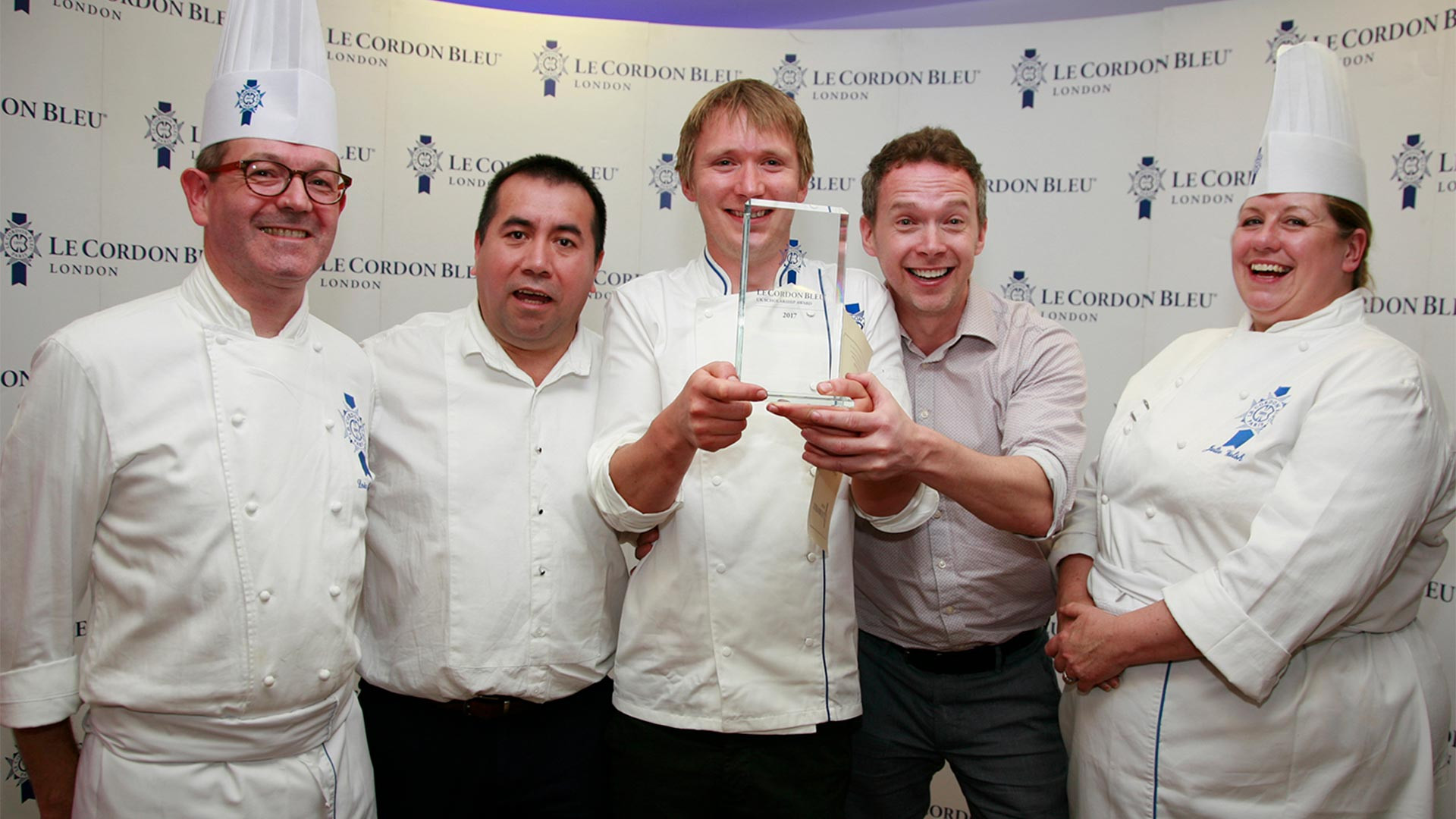 The winners of Le Cordon Bleu's UK Scholarship Award 2017
