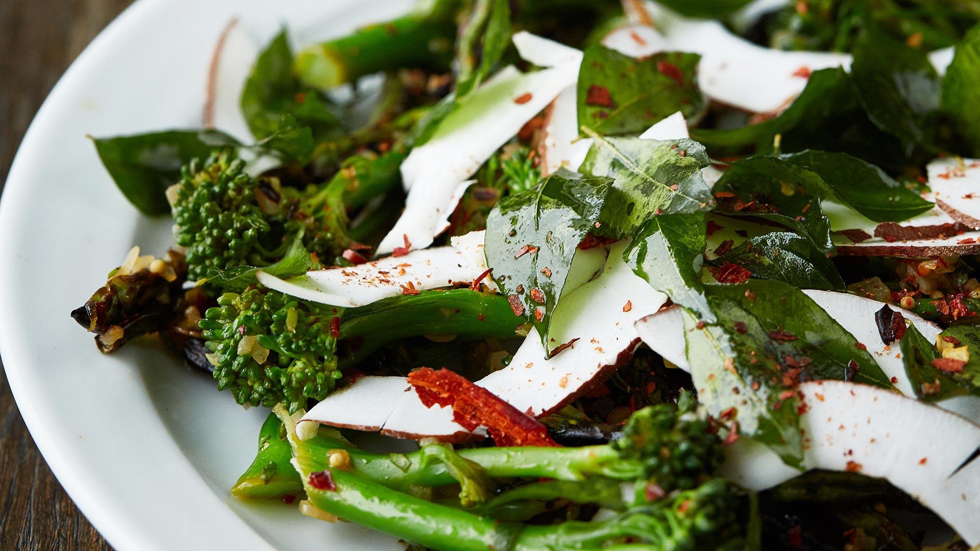 Seasonal vegetable dish at Sparrow restaurant Lewisham