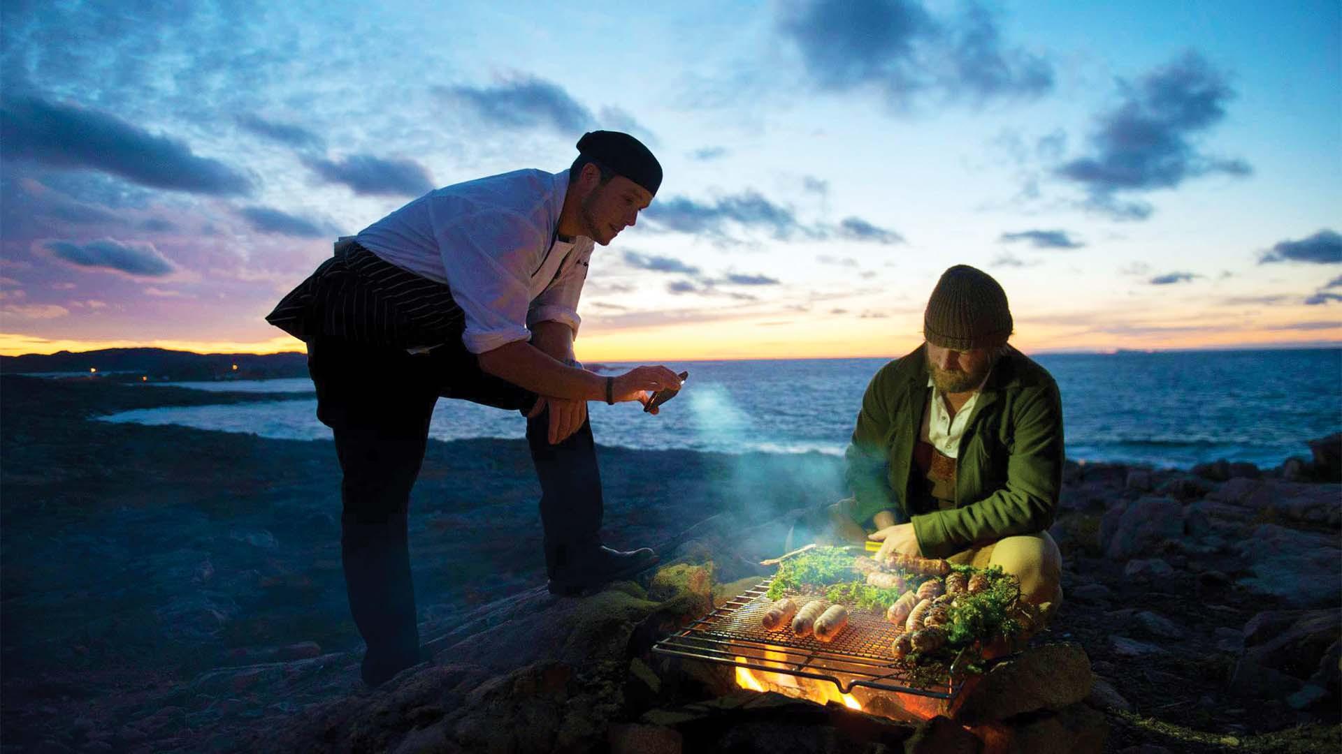 Outdoor barbecue in St. John's Newfoundland & Labrador, Canada