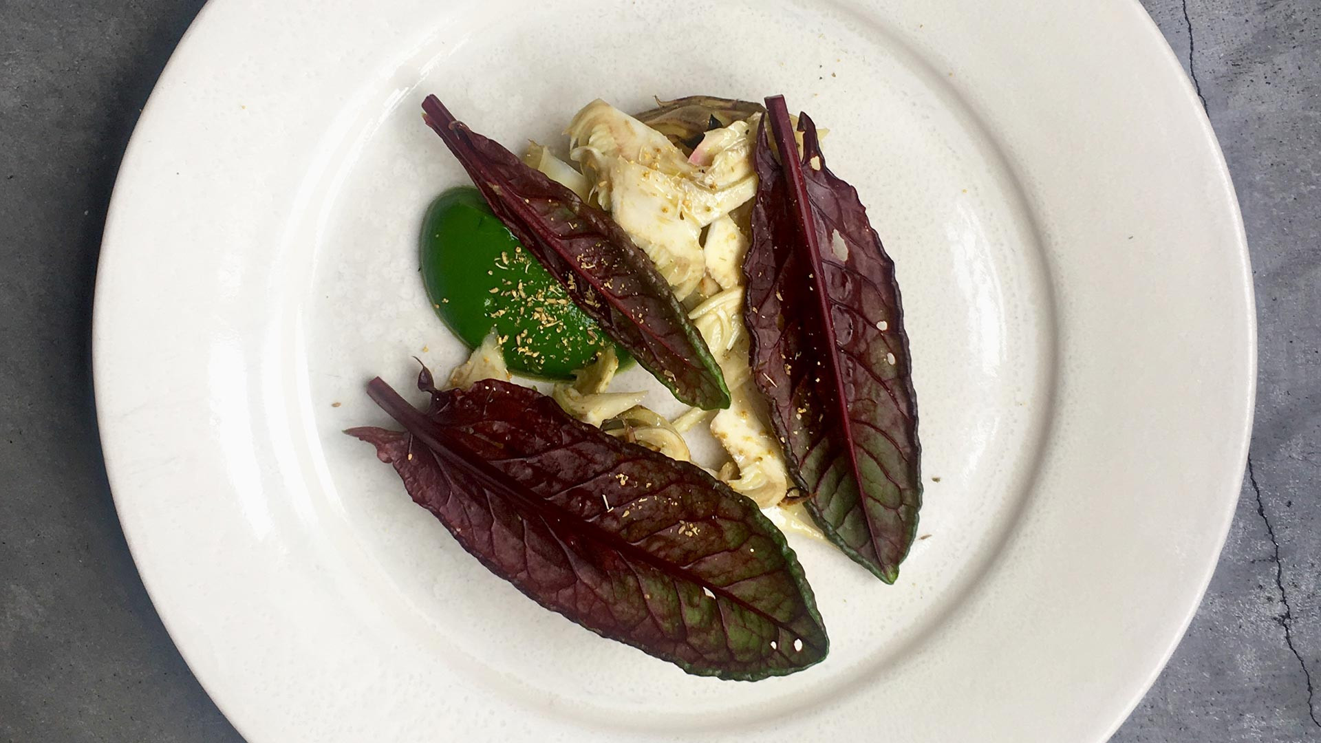 Artichokes, nettles and sorrel at award-winning Lyle's restaurant