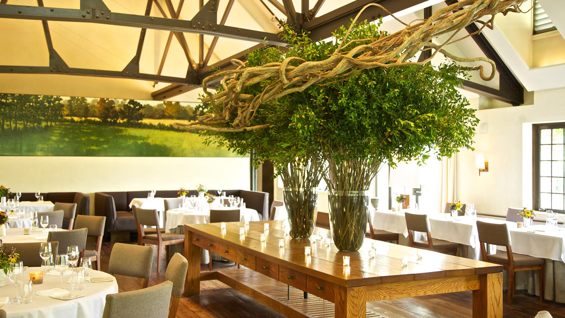 Dan Barber's acclaimed farm-to-table restaurant Blue Hill at Stone Barns. Photography by Daniel Krieger.
