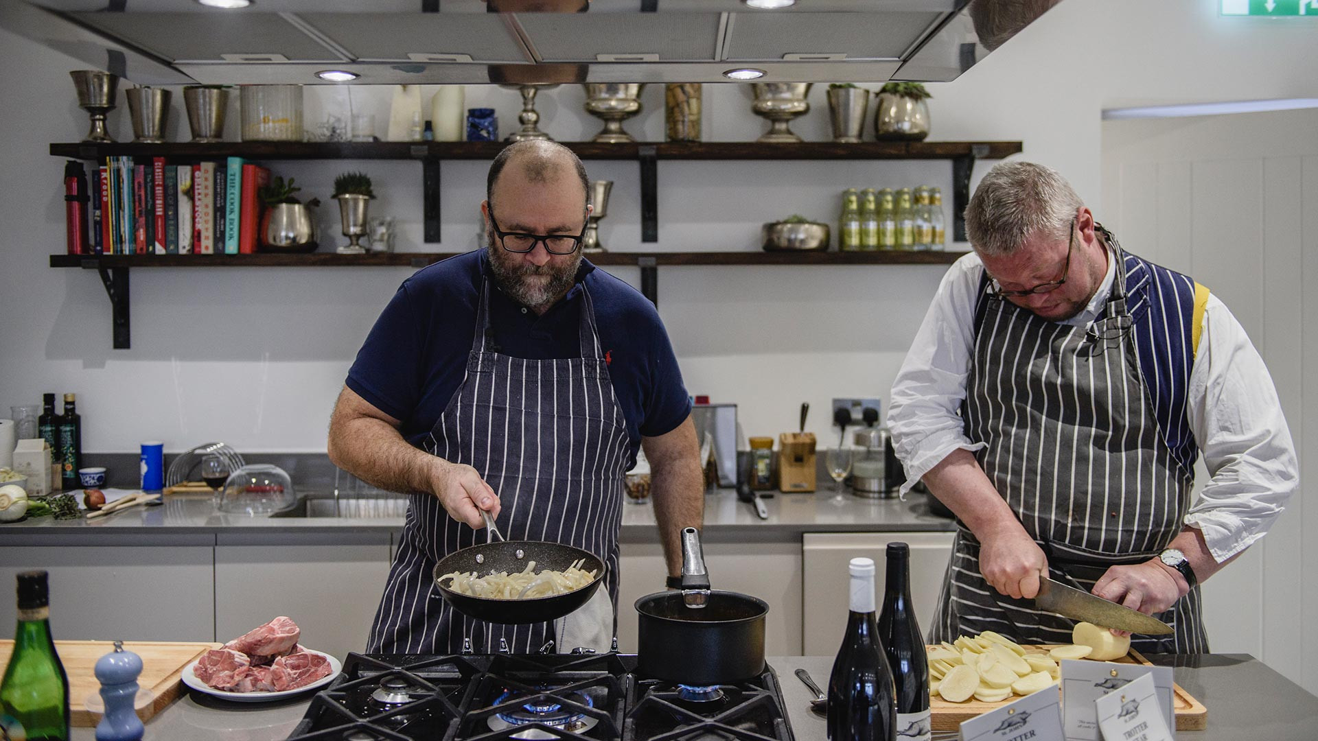 Richard H. Turner and Fergus Henderson, one half of the duo behind St John, cook up a storm in the Foodism test kitchen