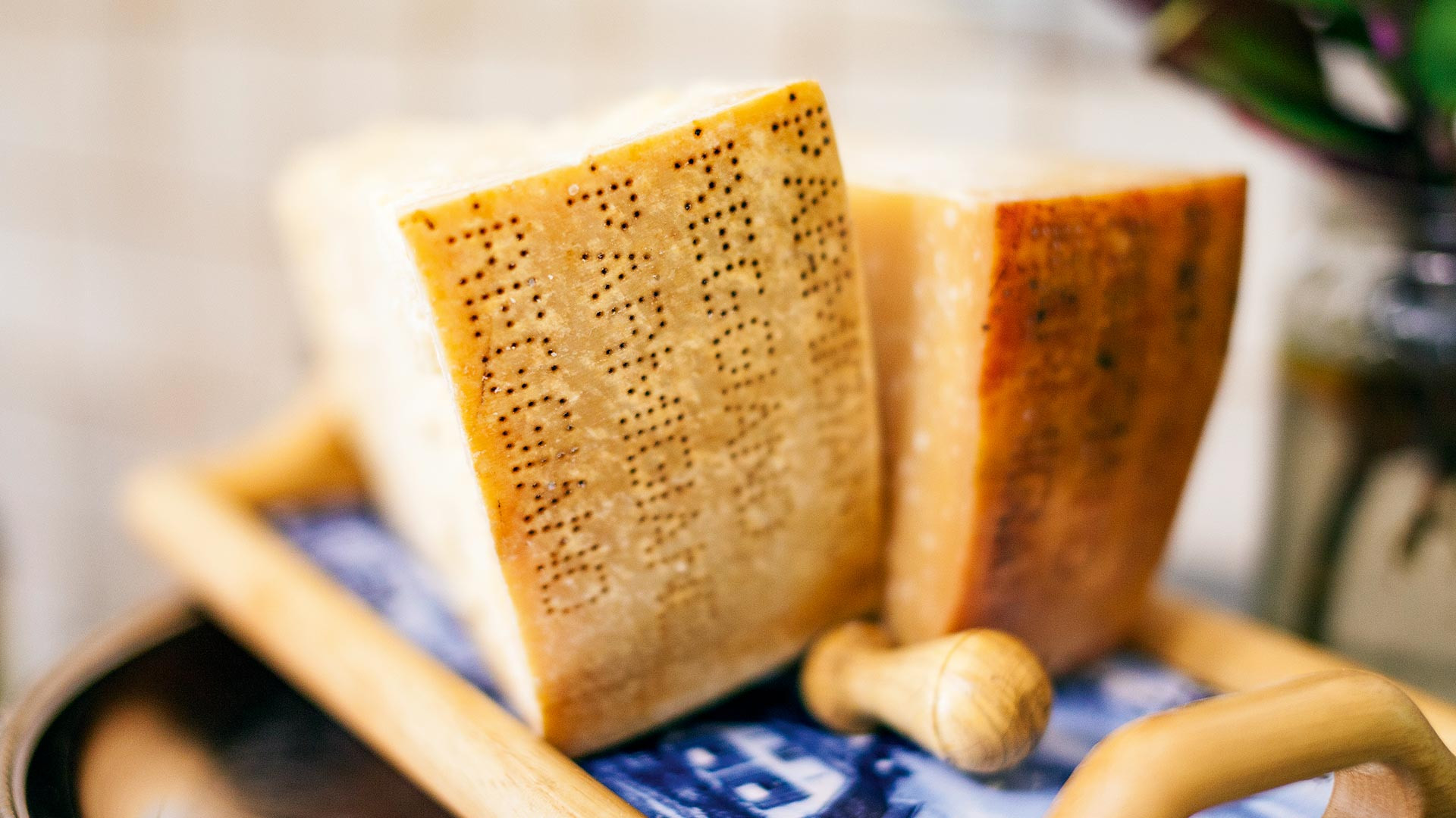 Wedges of Parmigiano-Reggiano