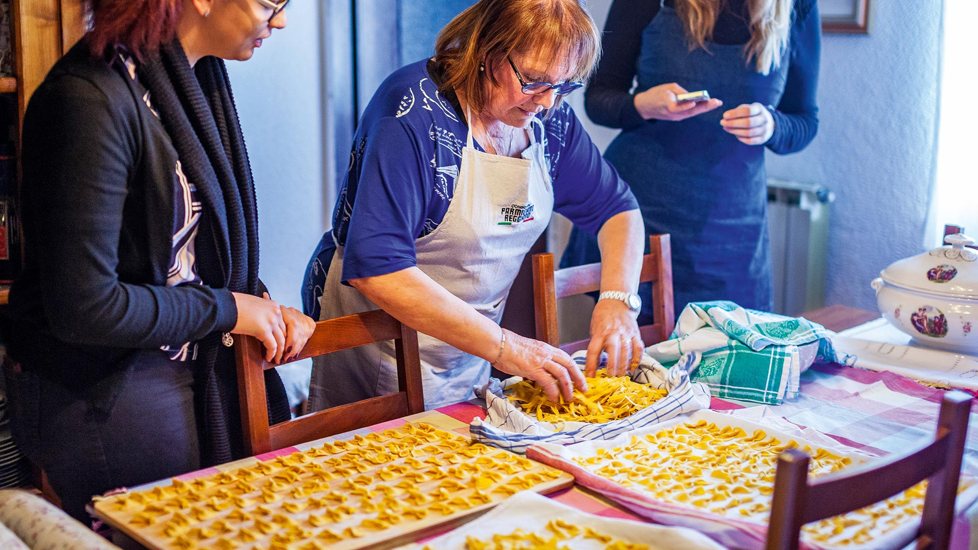 Vicky Smith gets a lesson in traditional Italian pasta making from Silvana Dall'Argine