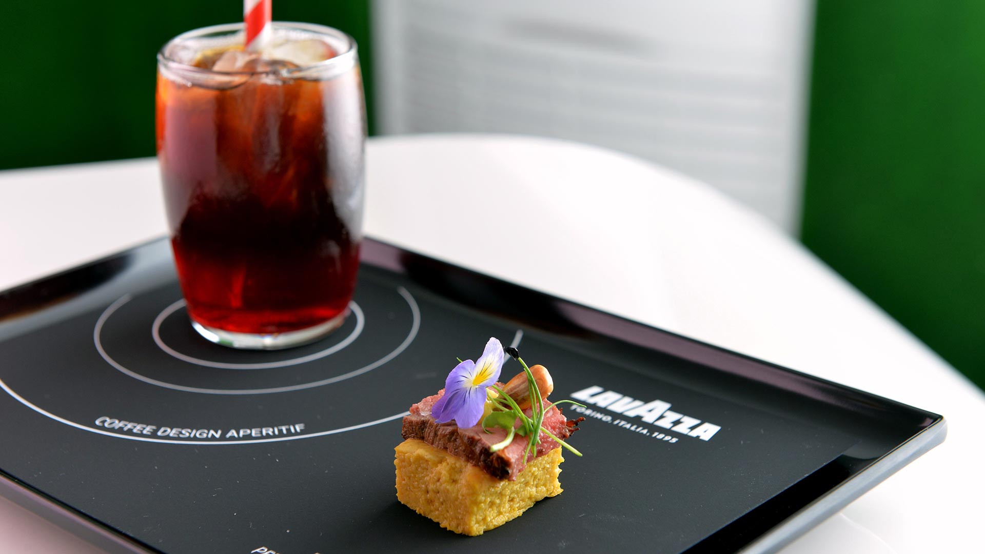 Peruvian anticuchos, the coffee design apertif by head chef of LIMA Robert Ortiz