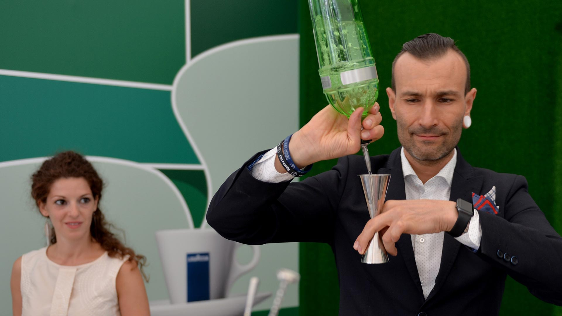 World-class Italian bartender Dennis Zoppi contructs Lavazza coffee-inspired cocktails at Wimbledon 2017