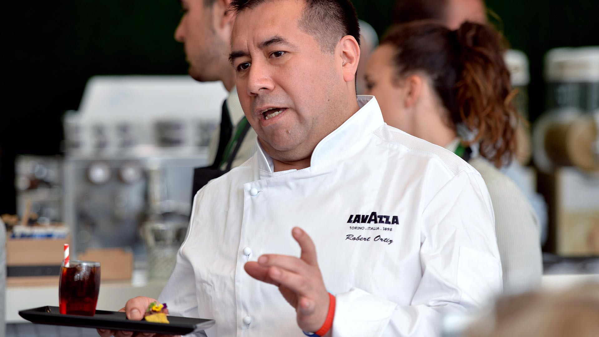 Robert Ortiz introduces his Lavazza dish at Wimbledon 2017