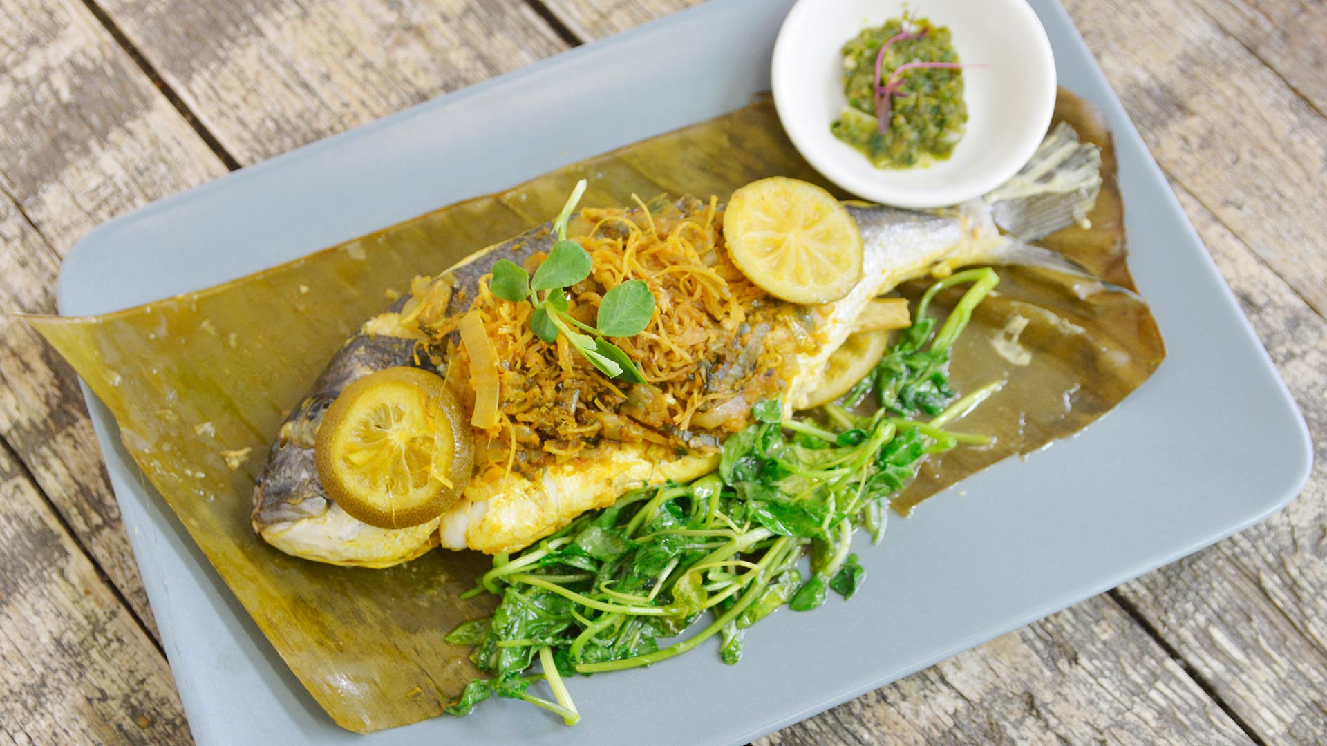 Bream with pickled ginger