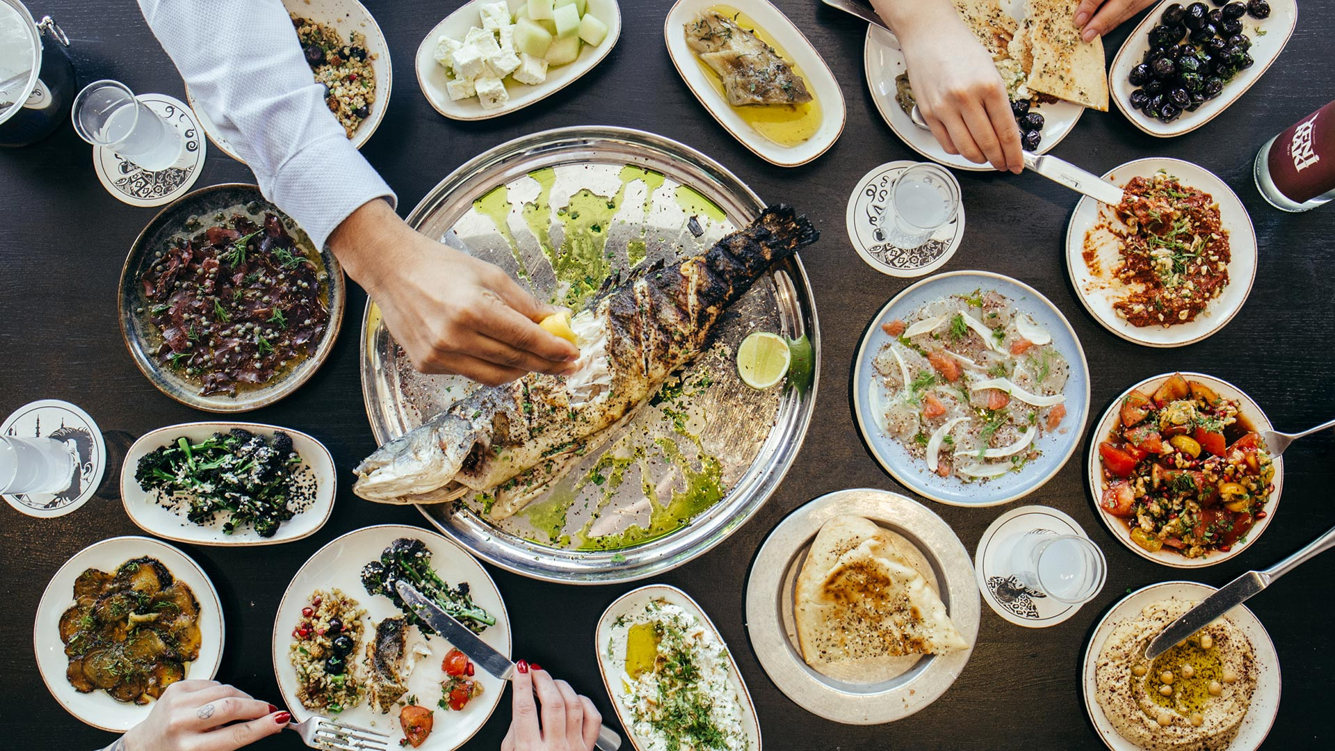 Small plates at Yosma; photograph: Claire Menary