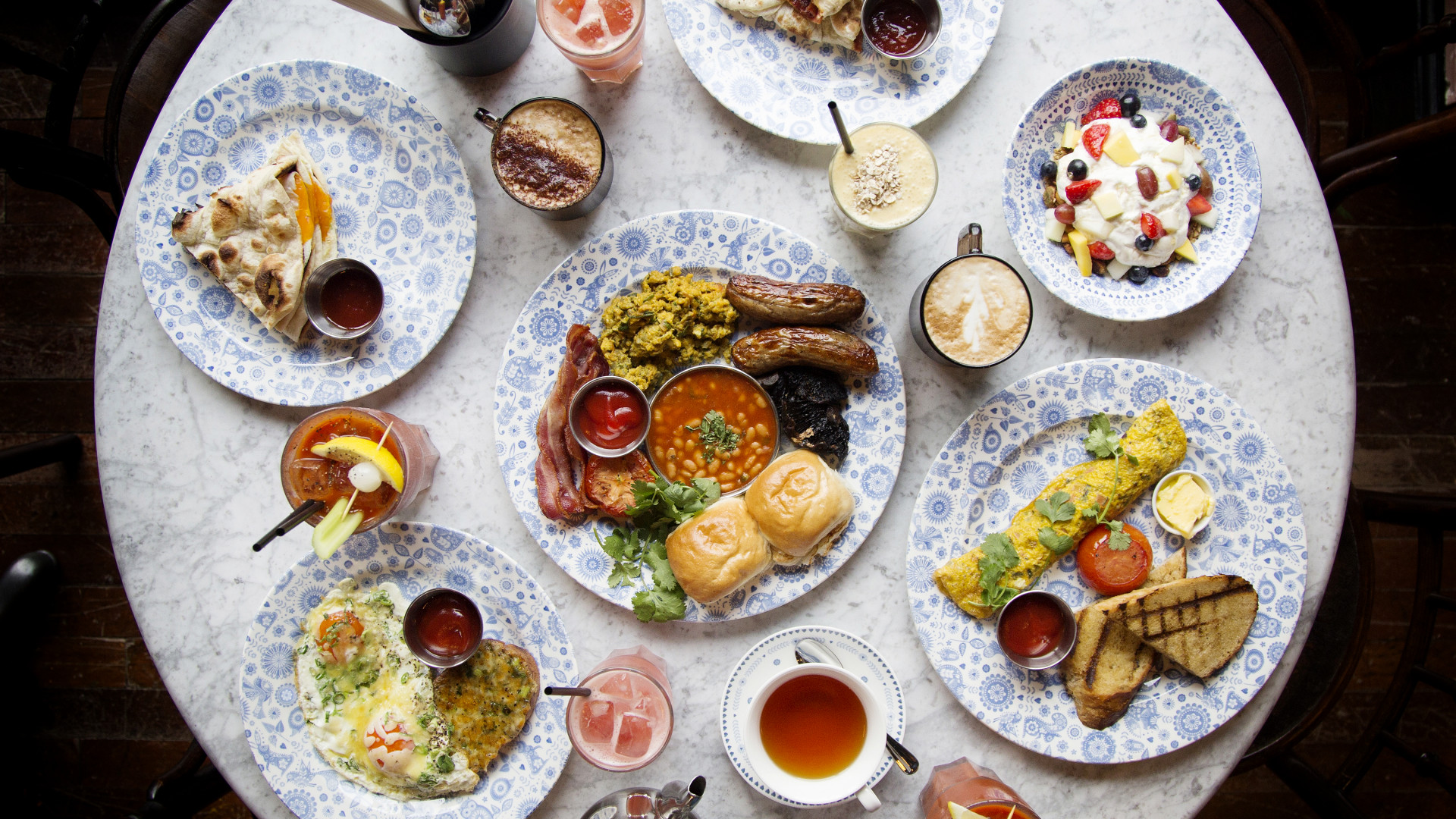Dishoom's Indian breakfast spread