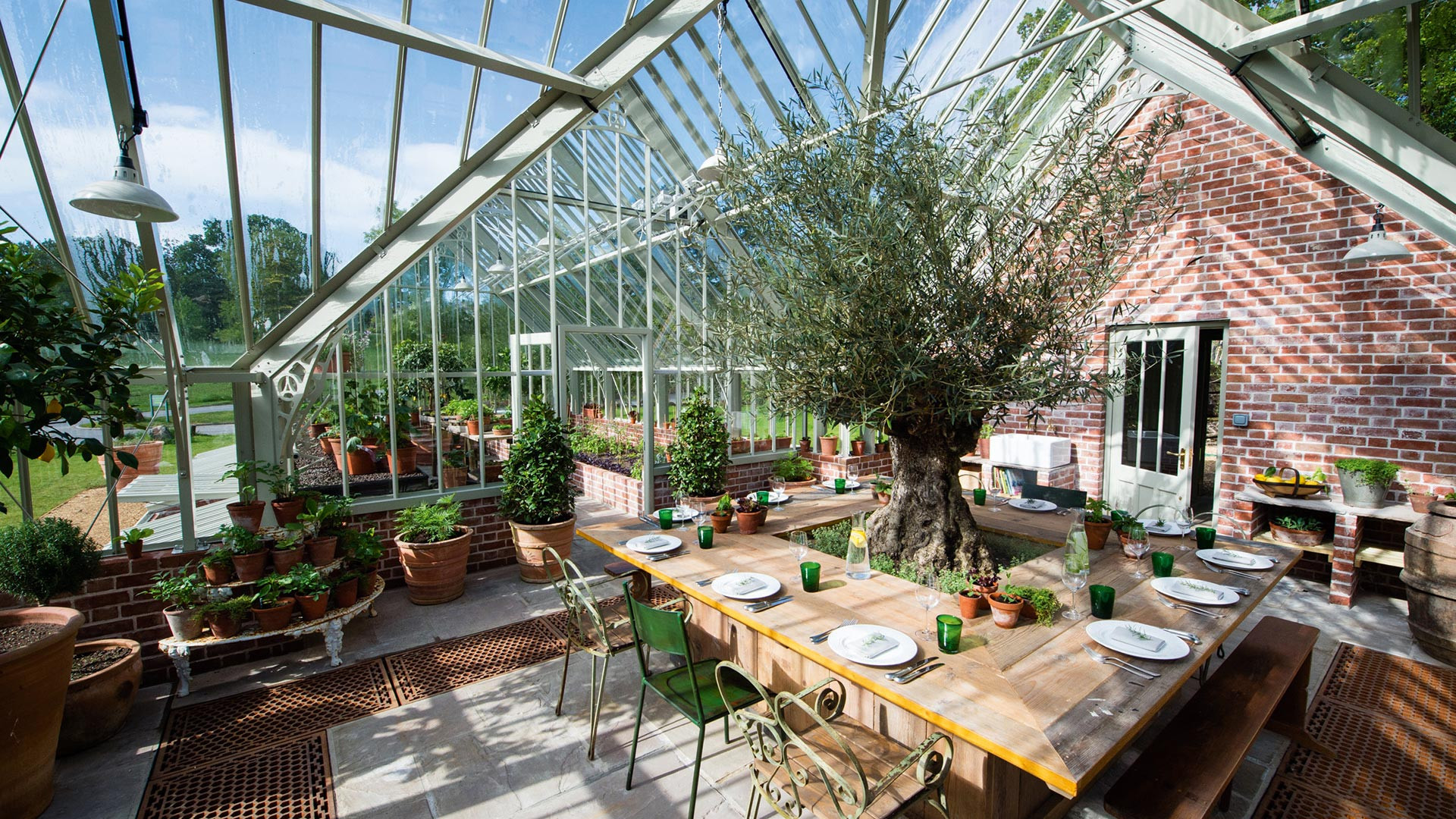 Lime Wood greenhouse