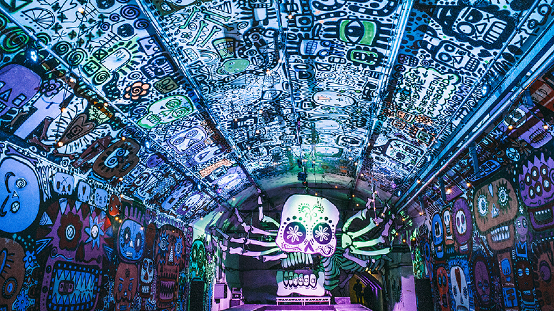 Wahaca's Day of the Dead party