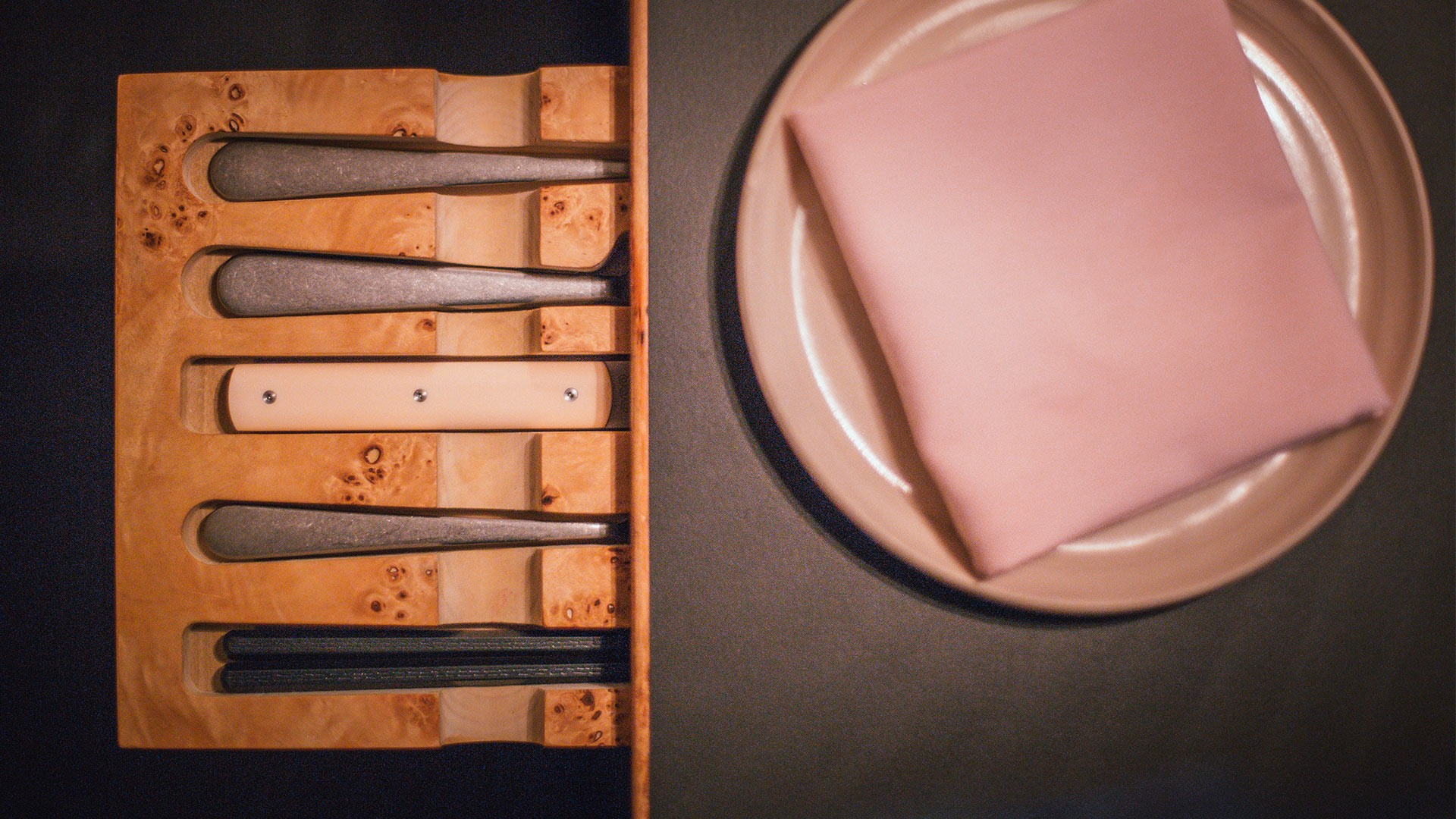 The cutlery drawers at The Laughing Heart