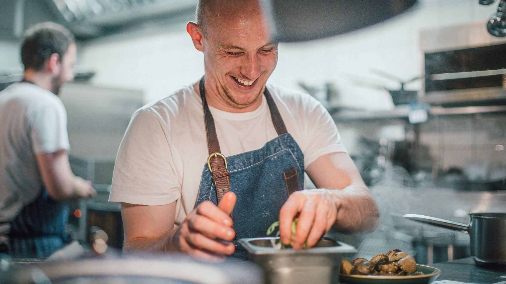 The Laughing Heart's head chef Tom Anglesea