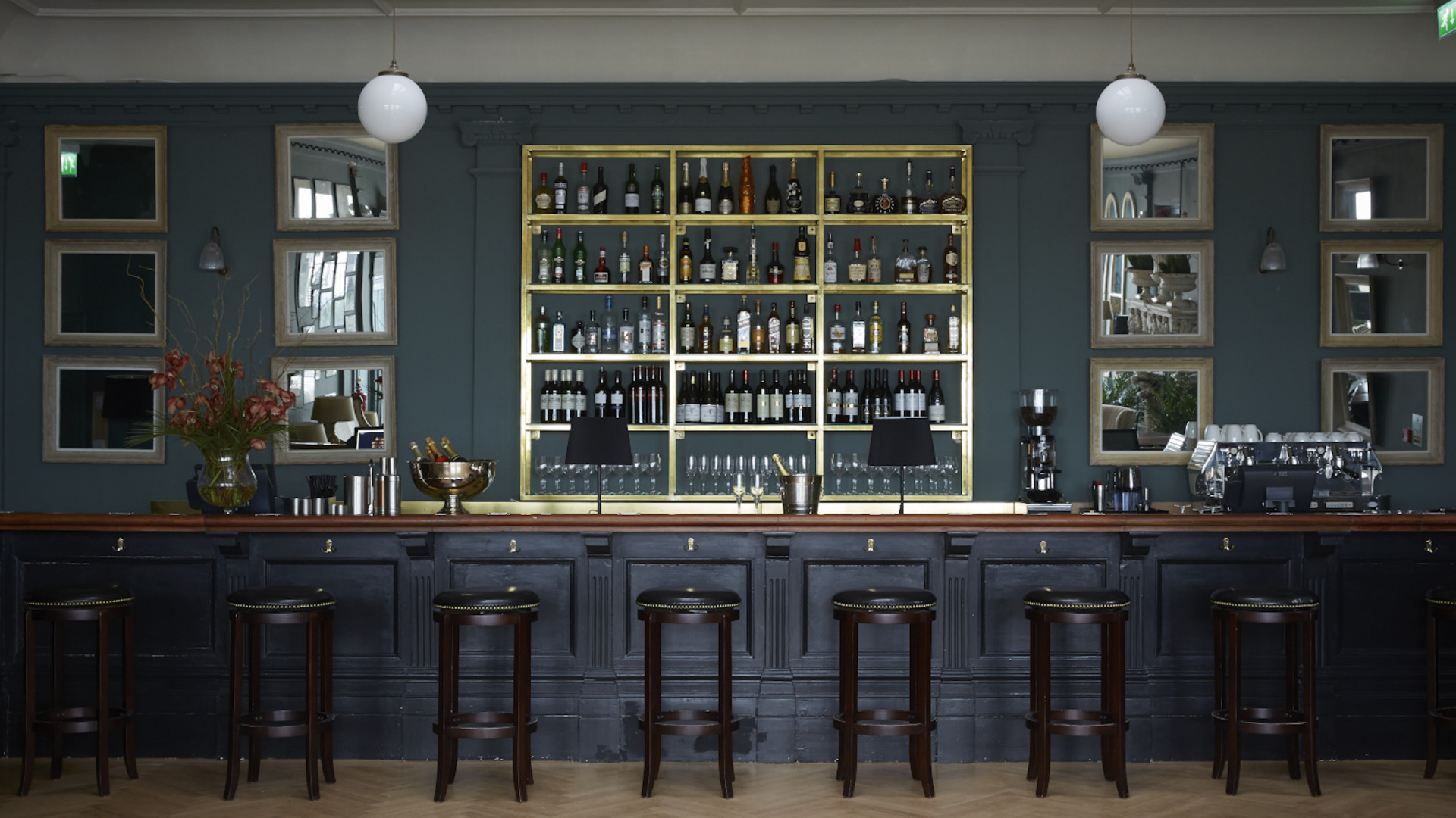 Albion House's extensively stocked bar