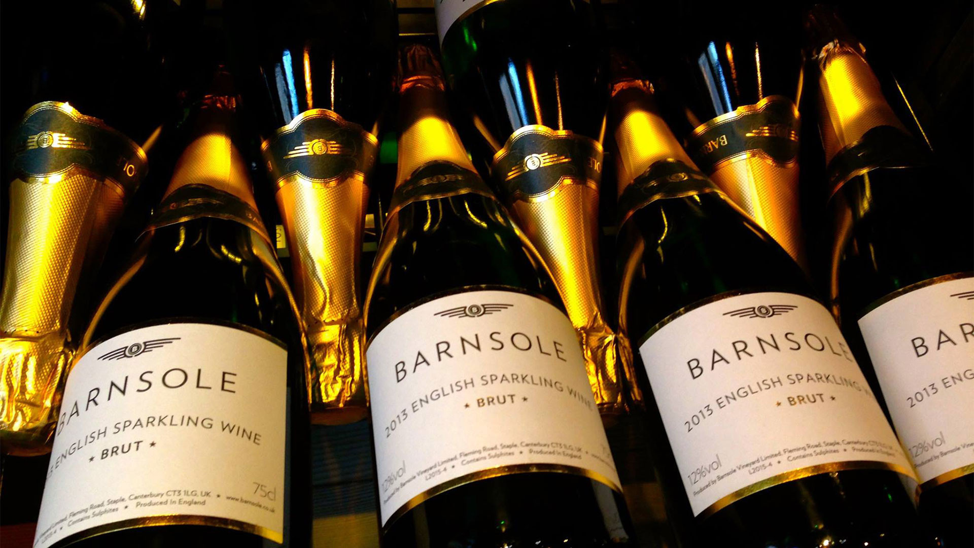 English sparkling wine from Barnsole Vineyards, Canterbury