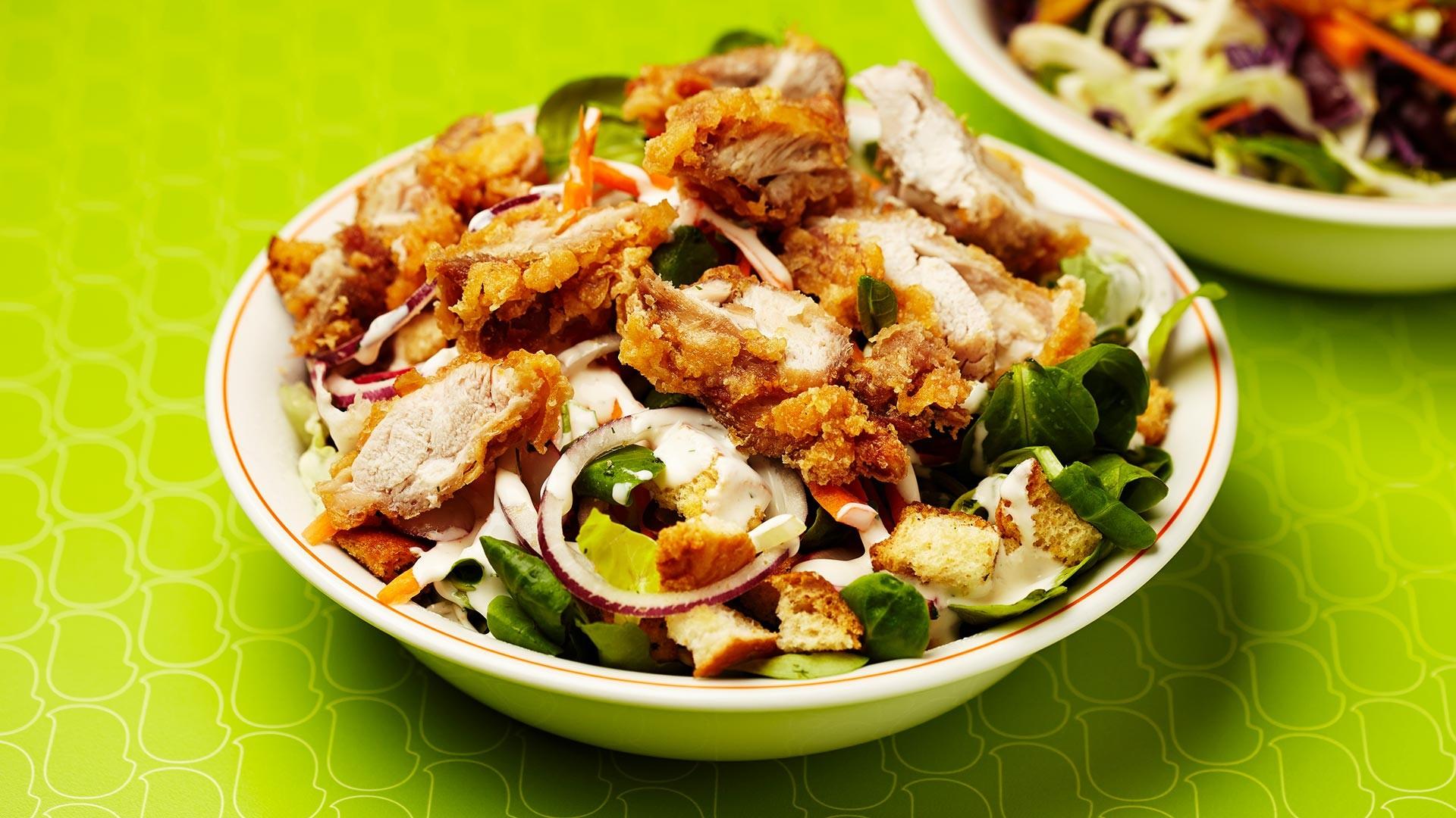 BIRD fried chicken salad