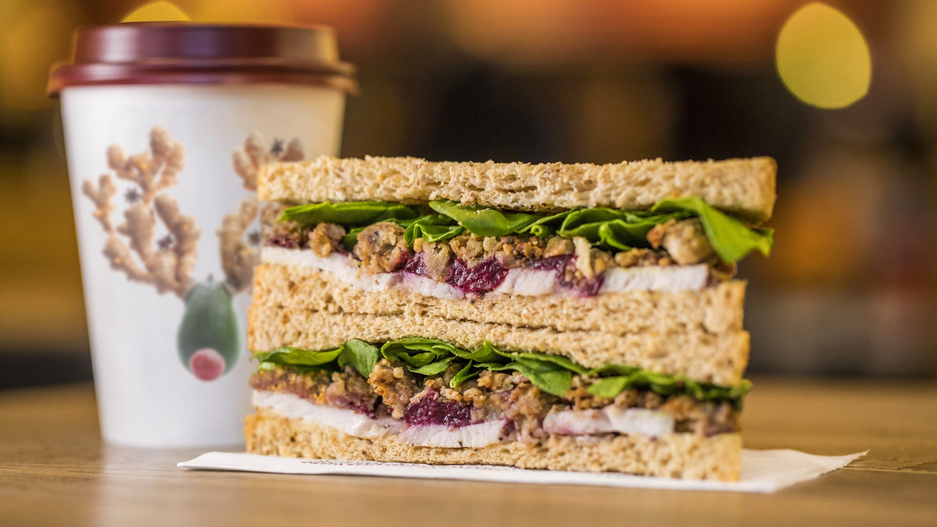 One of Pret a Manger's three Christmas sandwiches