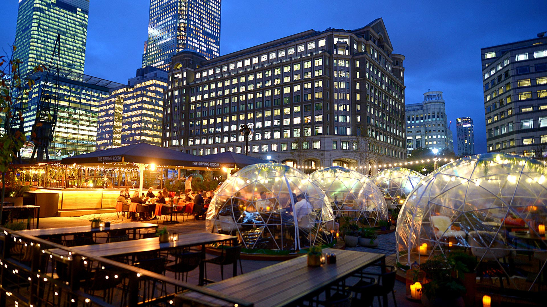 The Sipping Room's igloos