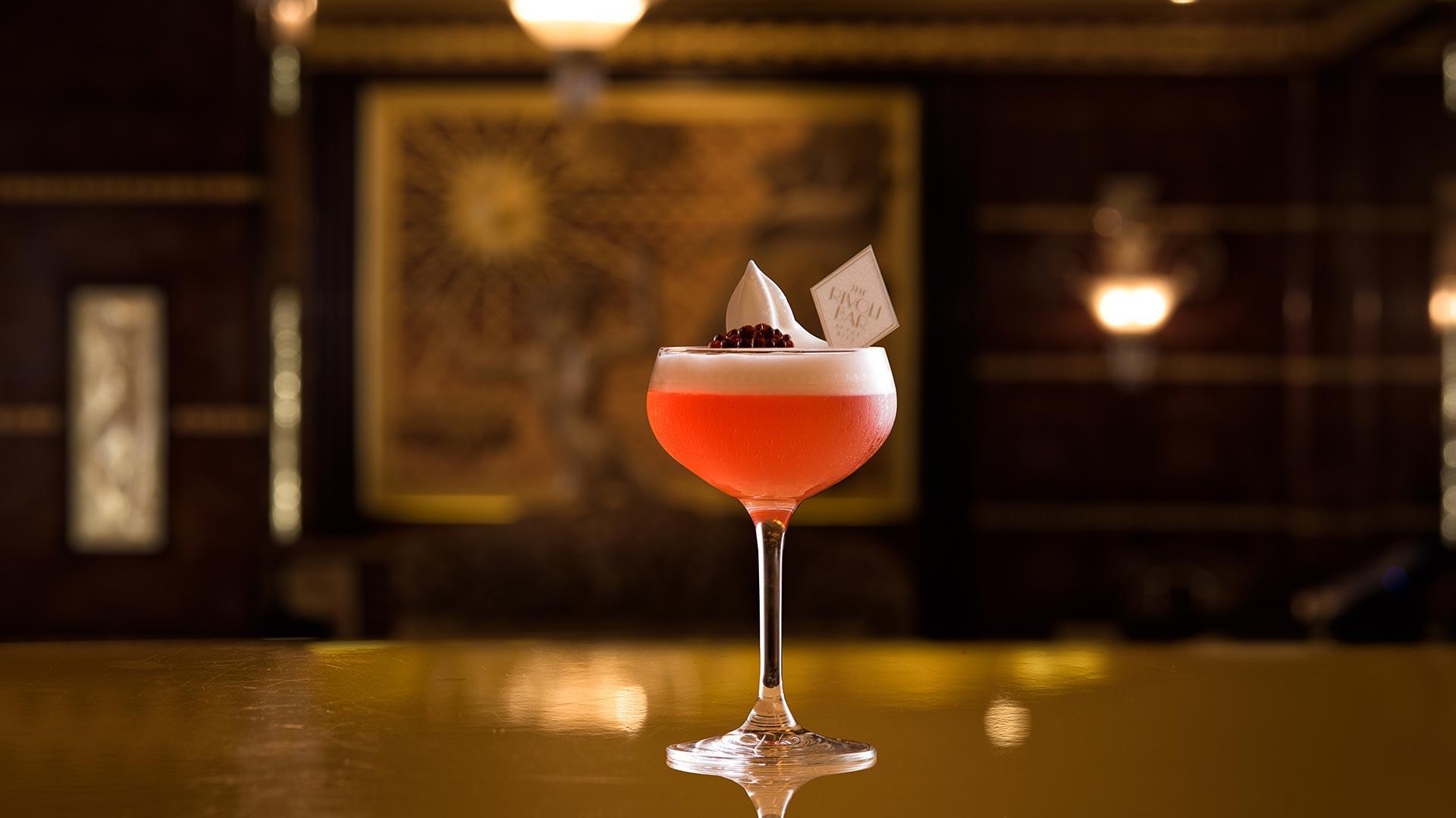 The Rivoli Bar ruby cocktail