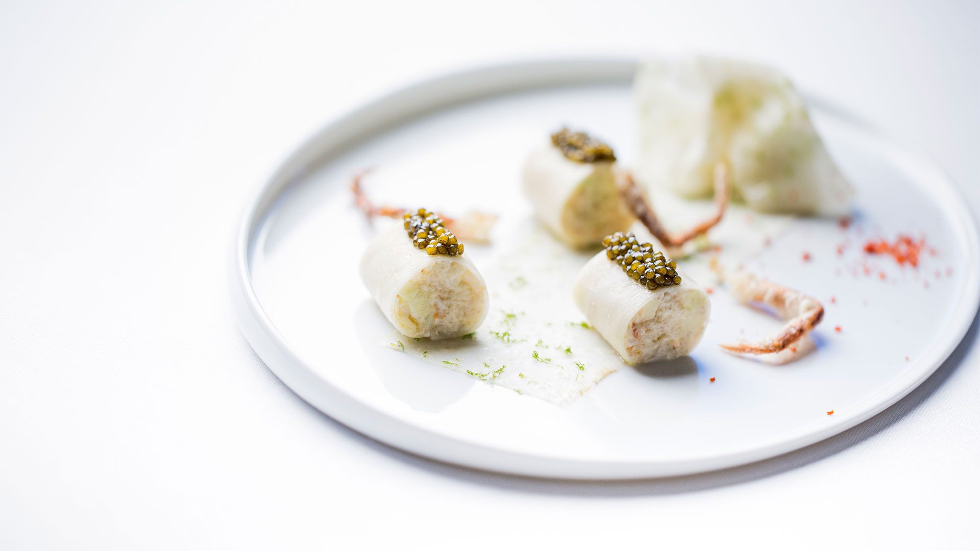 Dishes from the tasting menu at Alain Ducasse at the Dorchester